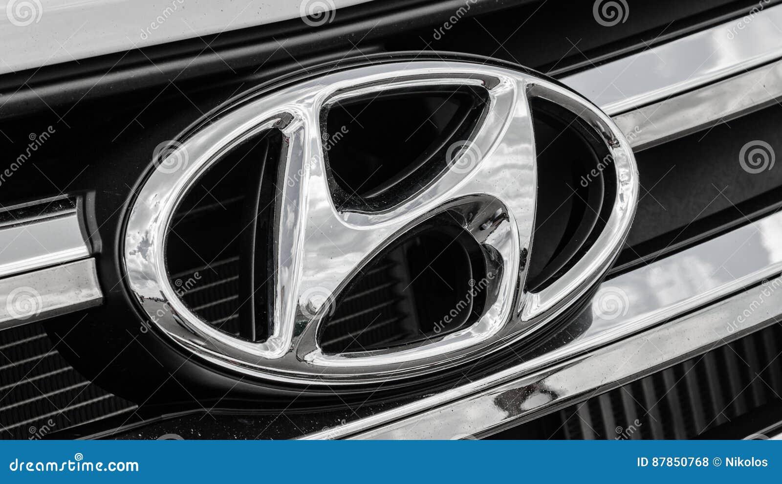 Auto Logo Hyundai Redactionele Stock Foto Afbeelding Bestaande Uit