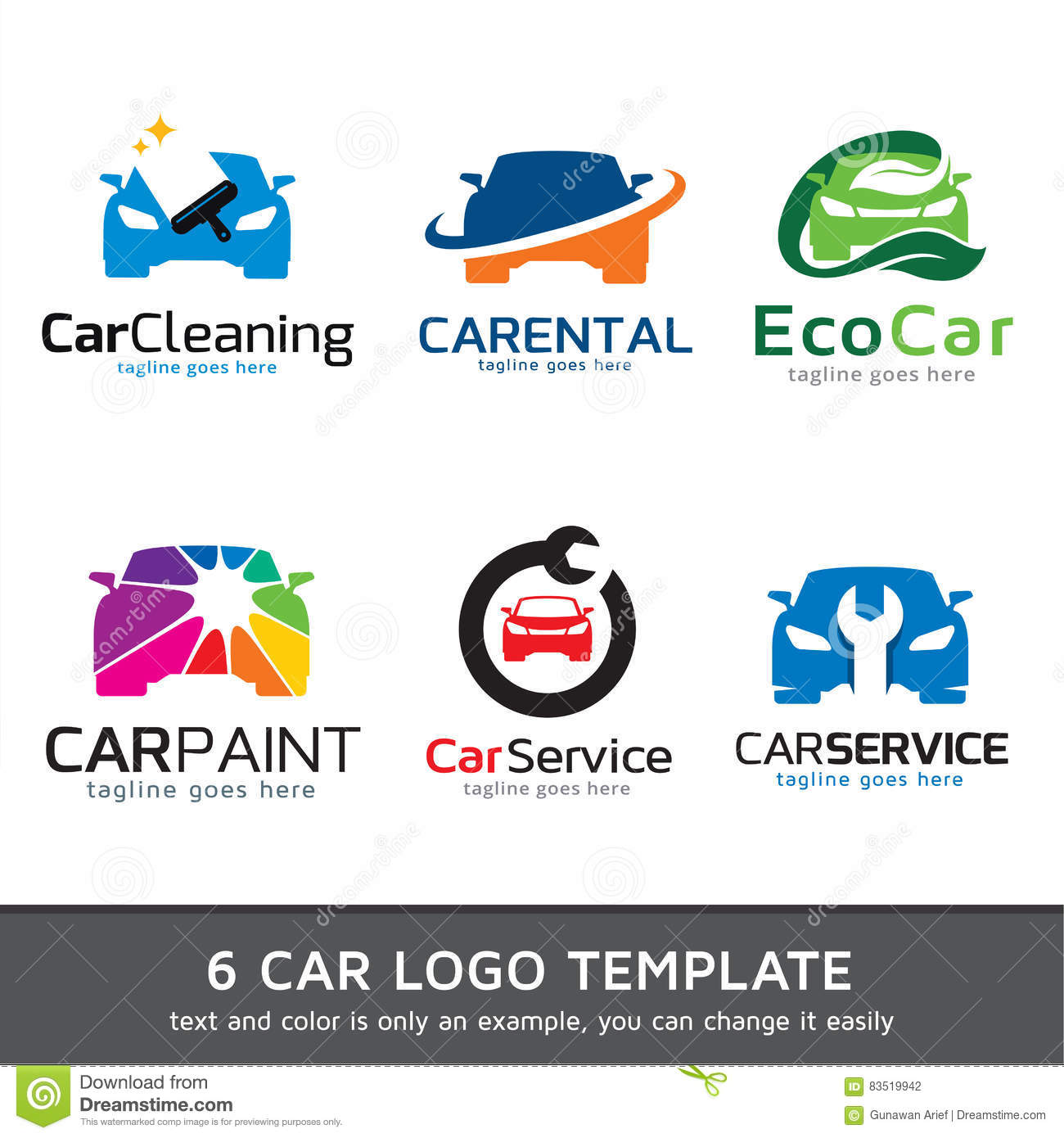 Auto Logo Template Design Vector Vector Illustratie Illustratie