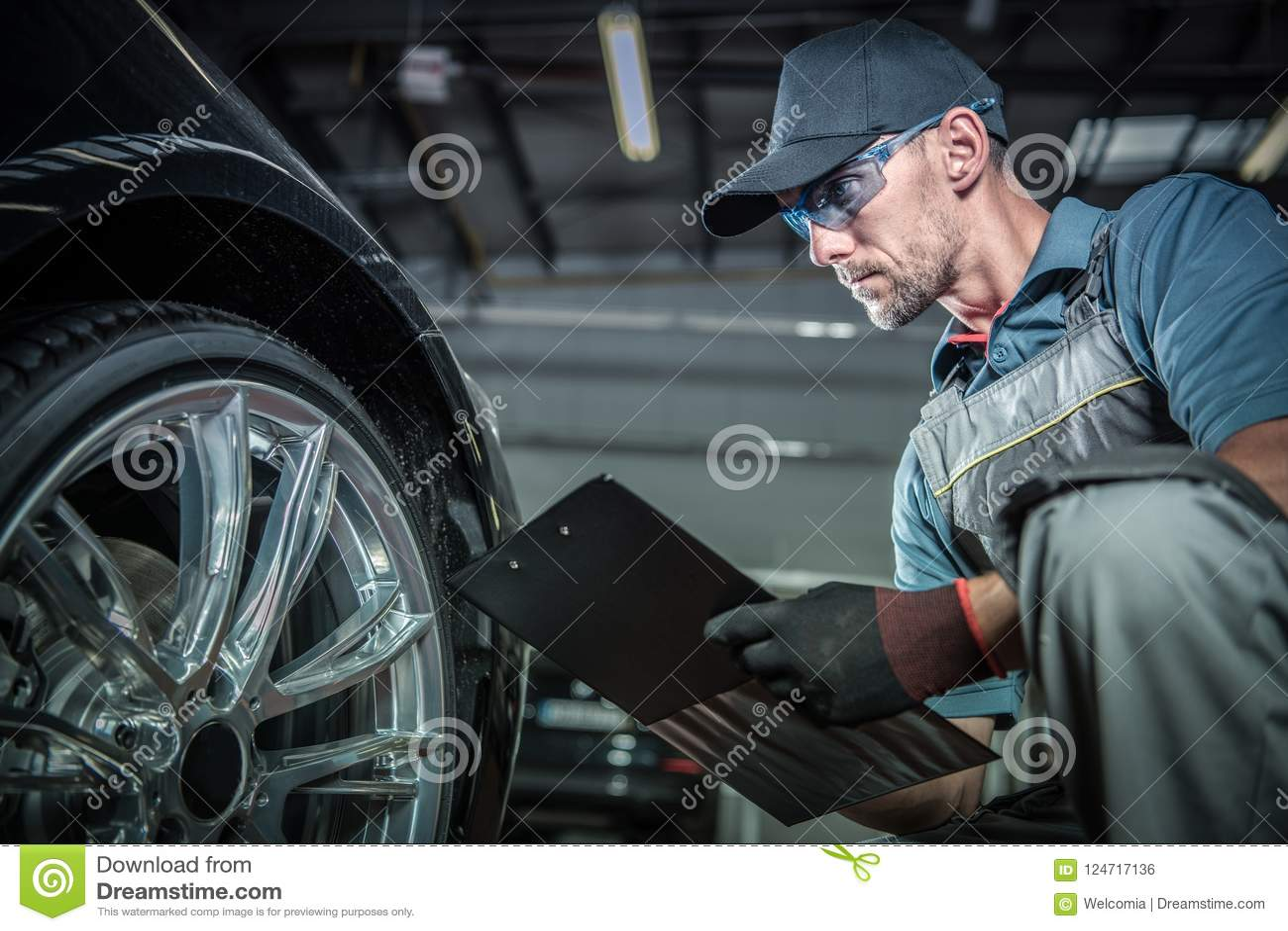 Auto Mechanic Job stock photo. Image of indoor, warranty ...