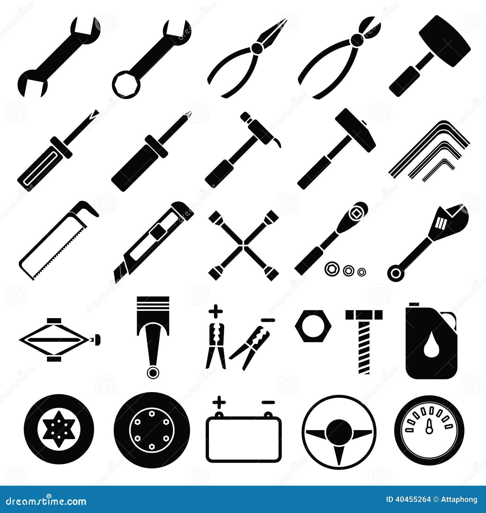 Auto Mechanic Tools Set Vector Stock Vector - Image: 40455264