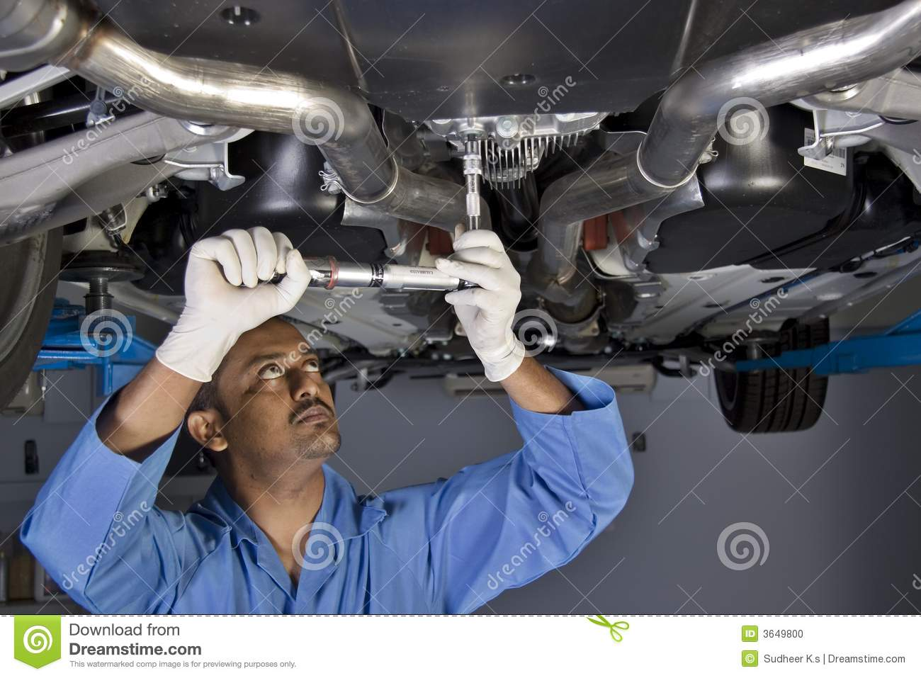 Auto Mechanic Under Car Stock Photo - Image: 3649800