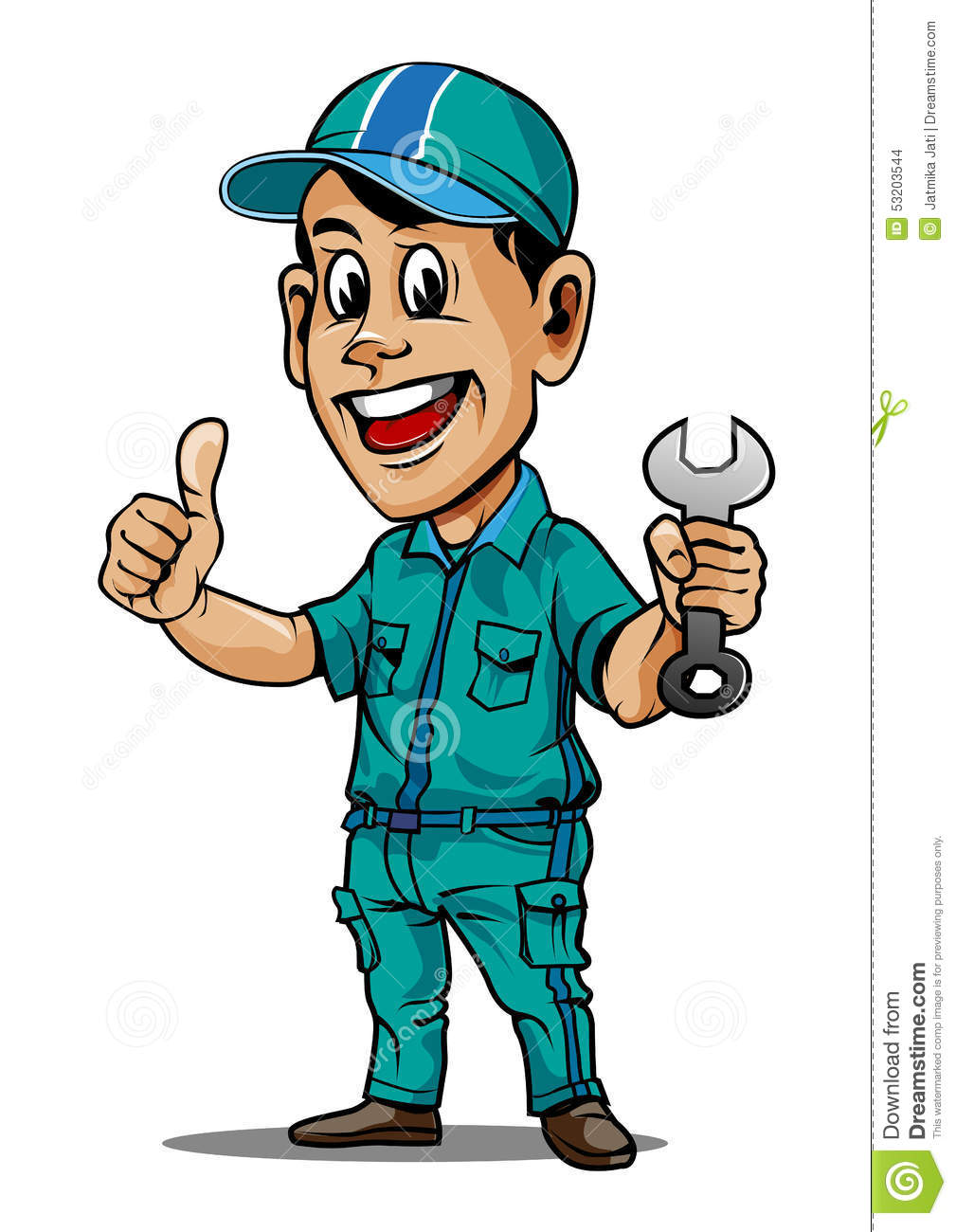 Auto Mechanic Vector Stock Vector - Image: 53203544