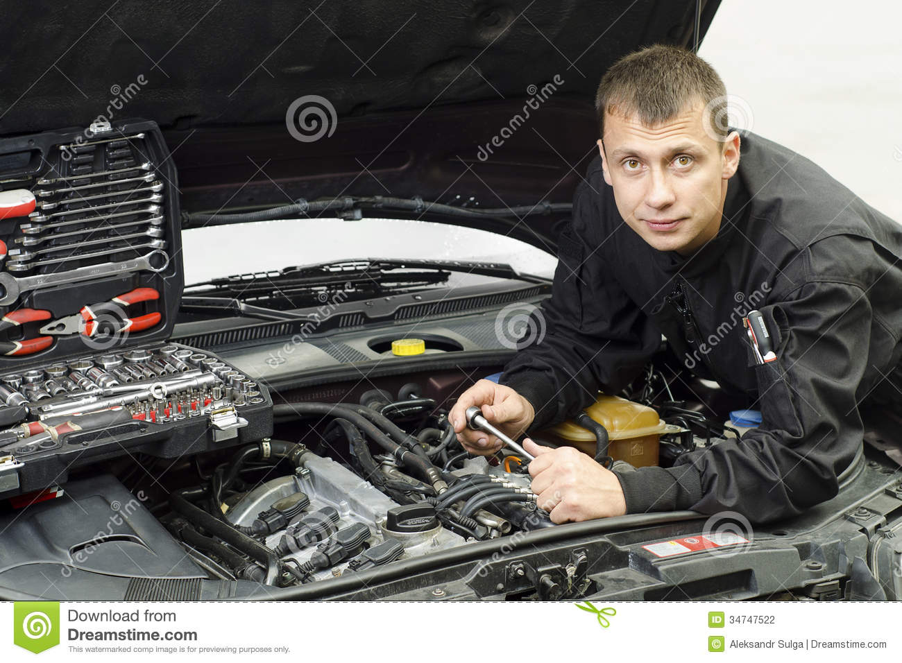 Auto Mechanic Stock Photography Image 34747522