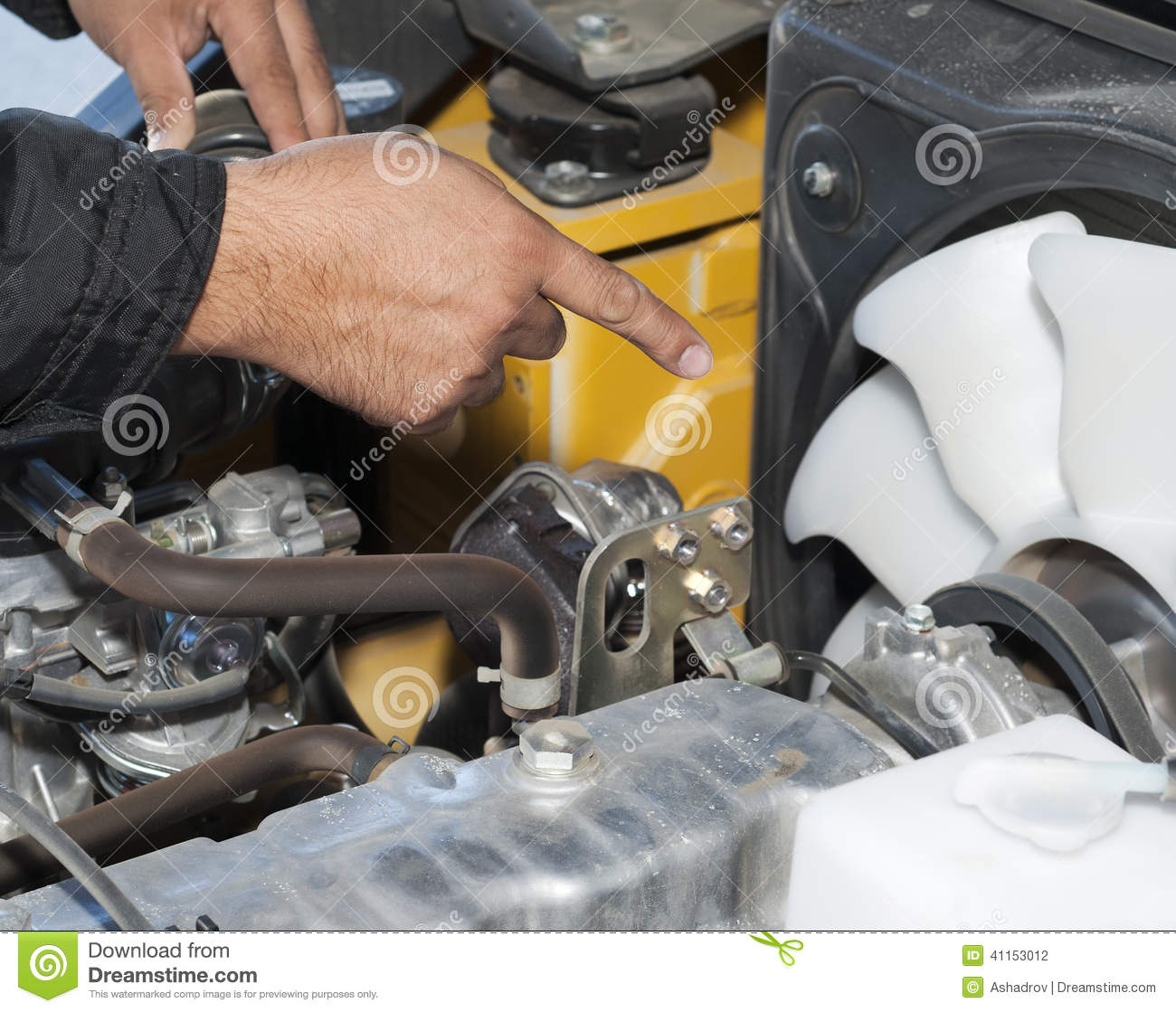 Auto Mechanic Working On A Car In Garage Stock Photo Image 41153012
