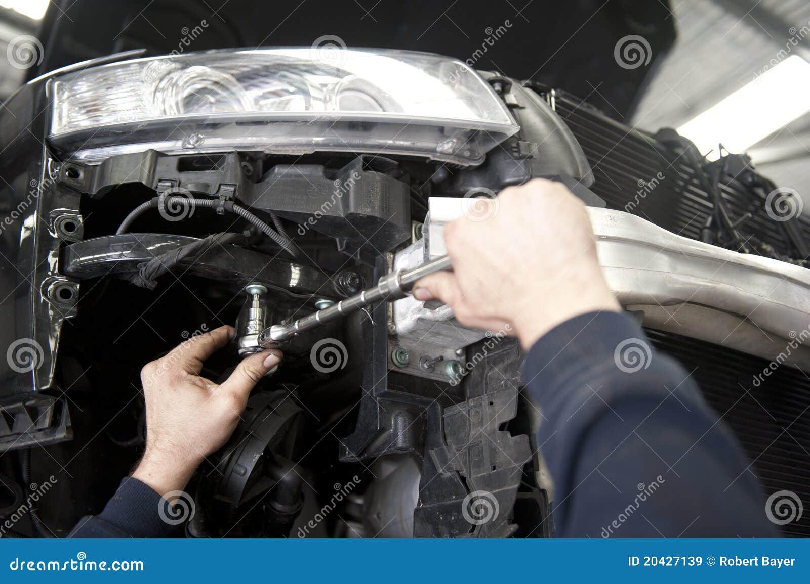 Auto mechanische het herstellen auto