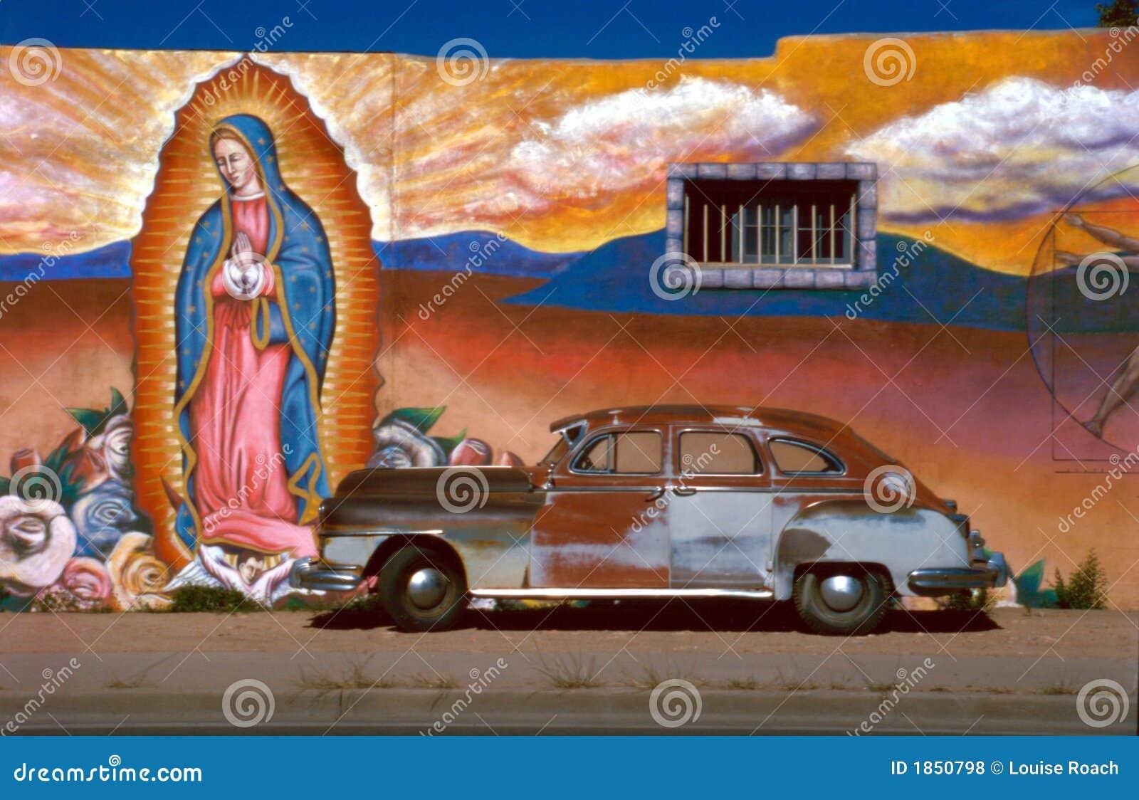 Auto met Guadalupe