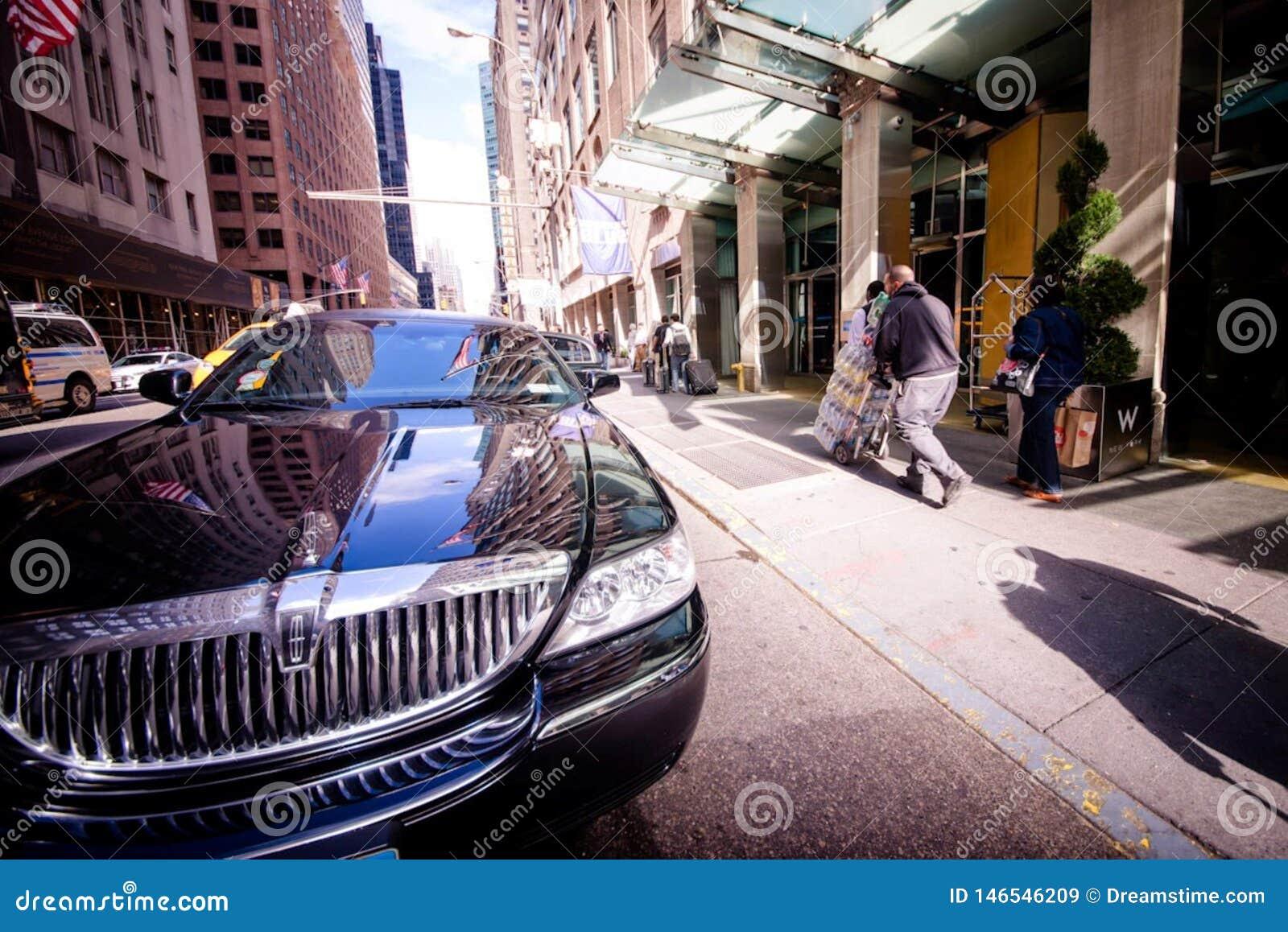 Auto op de Straten van New York