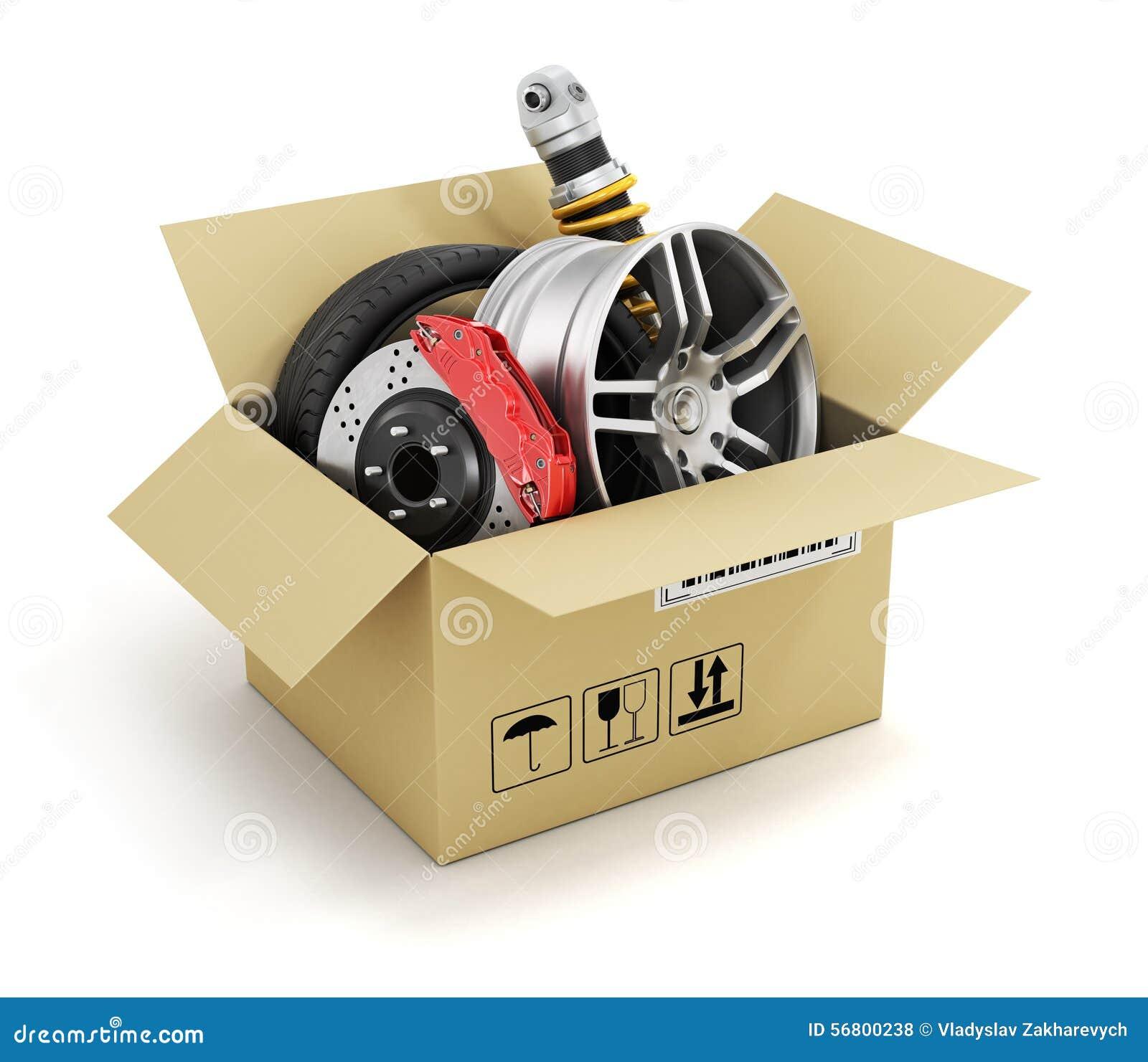 Parts Of A Cardboard Car