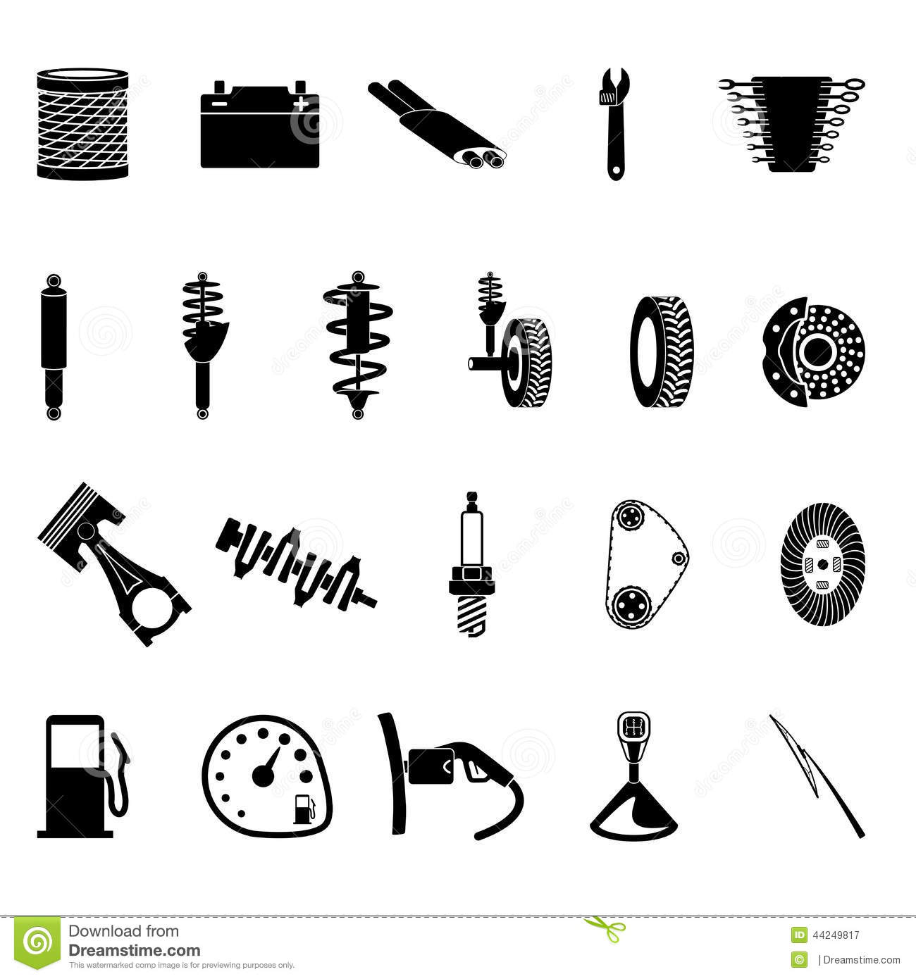Car Spare Parts Icons