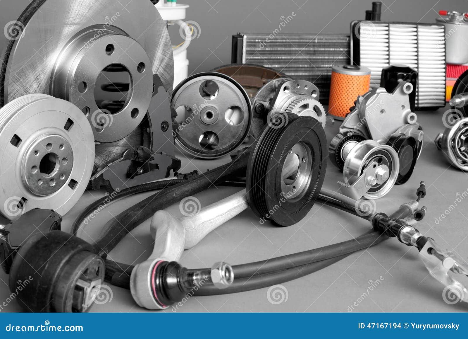 New Car Parts : Auto parts stock photo image of metal automobile