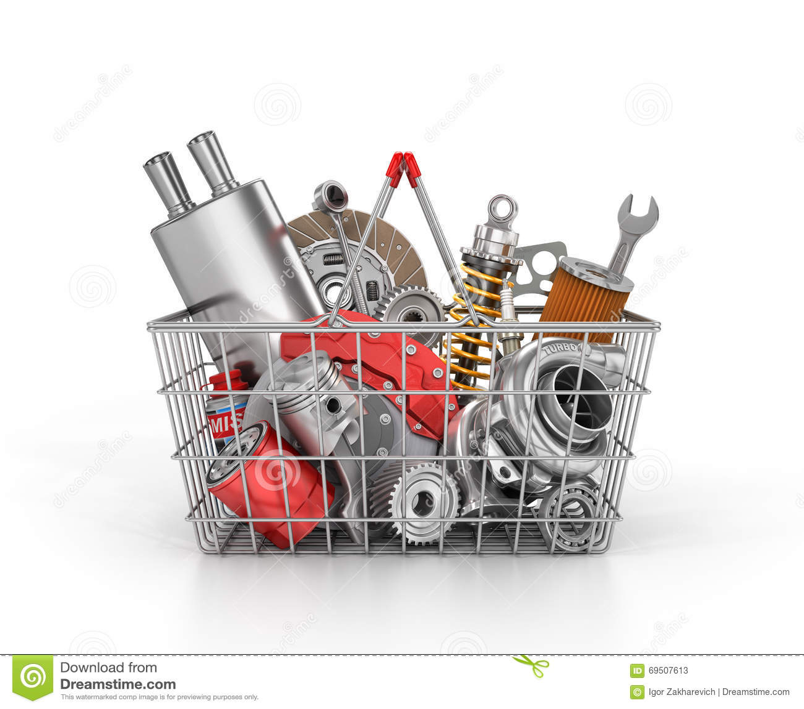 Auto Parts Store. Stock Illustration