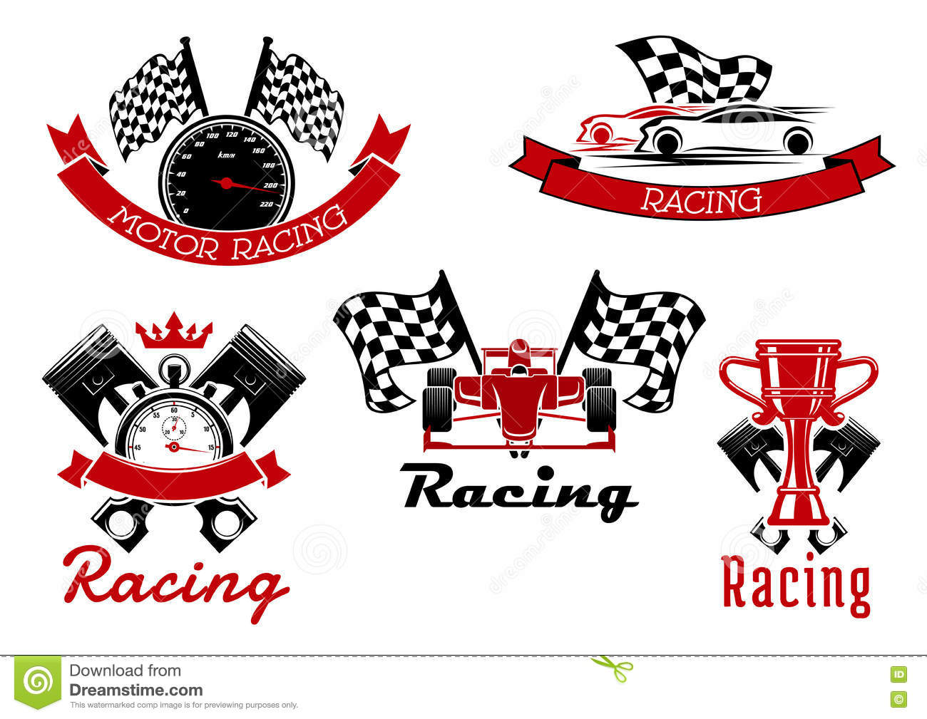Sporting stock illustrations 14361 sporting stock illustrations auto racing sporting symbols with race cars auto racing sporting icons of sports cars and biocorpaavc