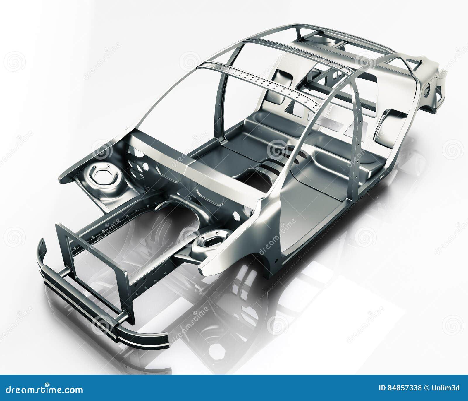 Auto-Rahmen Lokalisiert Abbildung 3D Stockfoto - Bild von prüfen ...