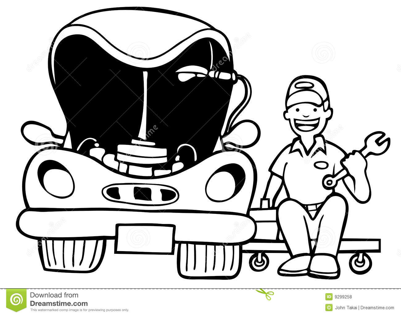 Auto Repair - Black And White Royalty Free Stock Photos - Image ...