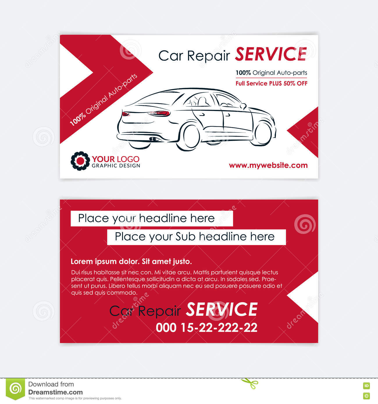 Auto repair business card template create your own business cards create your own business cards stock vector download comp accmission Choice Image
