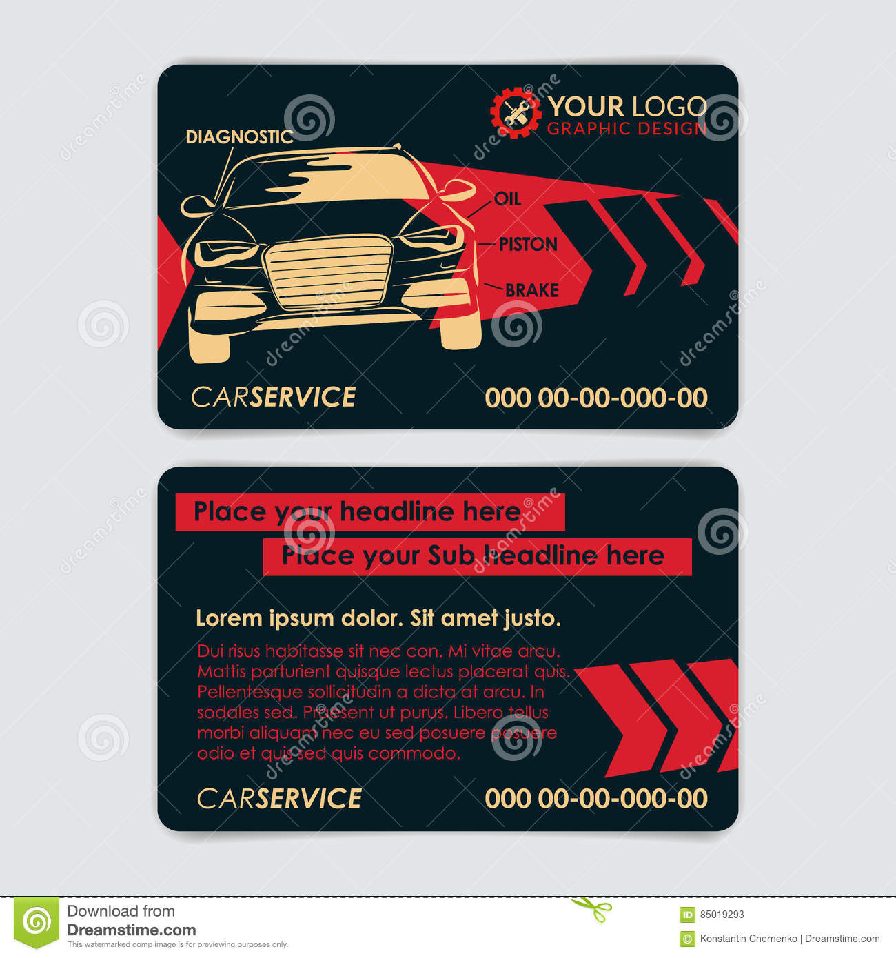 auto repair business card template create your own business cards - Auto Repair Business Cards