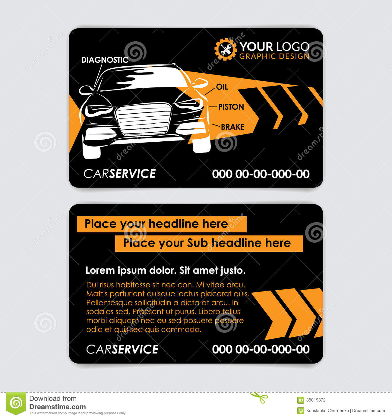 Auto repair business card template create your own business cards download auto repair business card template create your own business cards stock vector fbccfo Image collections