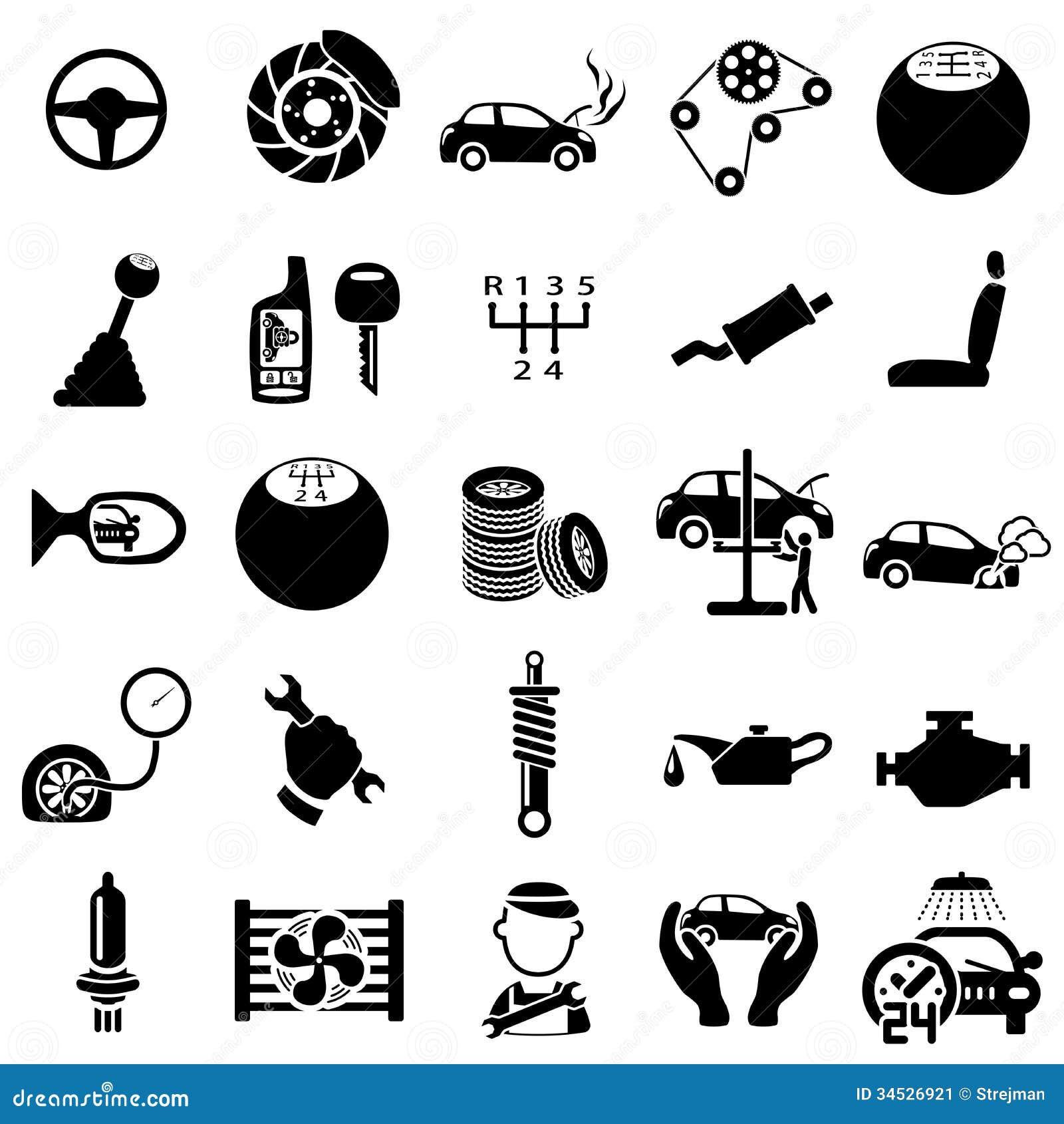 auto repair icons stock image