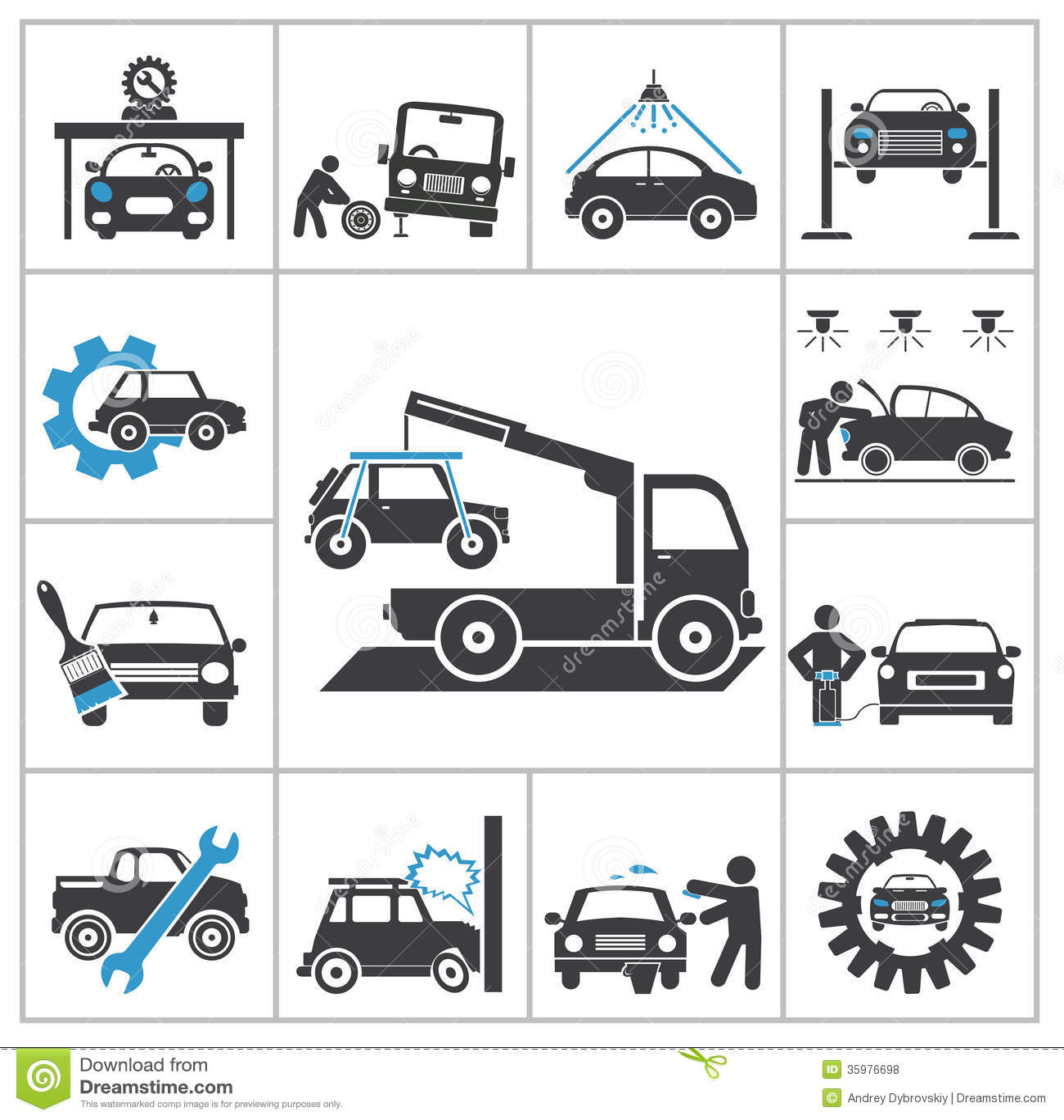 Auto Repair Icons Royalty Free Stock Photos Image 35976698