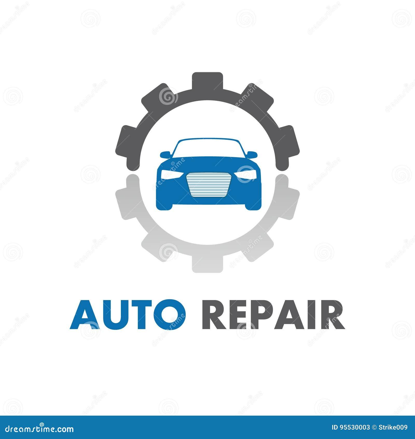 Auto Repair Logo Vector Design Stock Vector Illustration Of Code