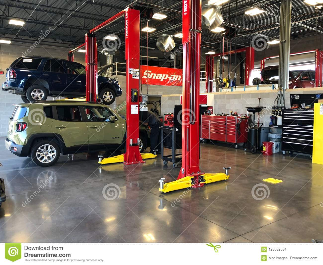 Auto Repair Shop editorial stock image. Image of used ...
