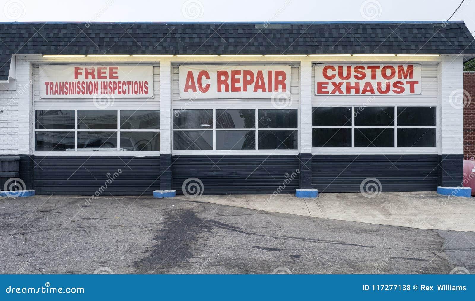 Auto Repair Shop Bays Transmission Air Conditioning ...