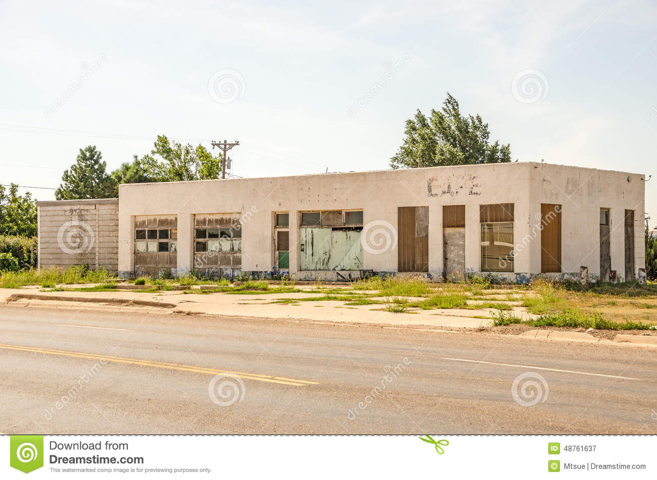 auto repair shop and cafe stock image. image of structure - 48761637
