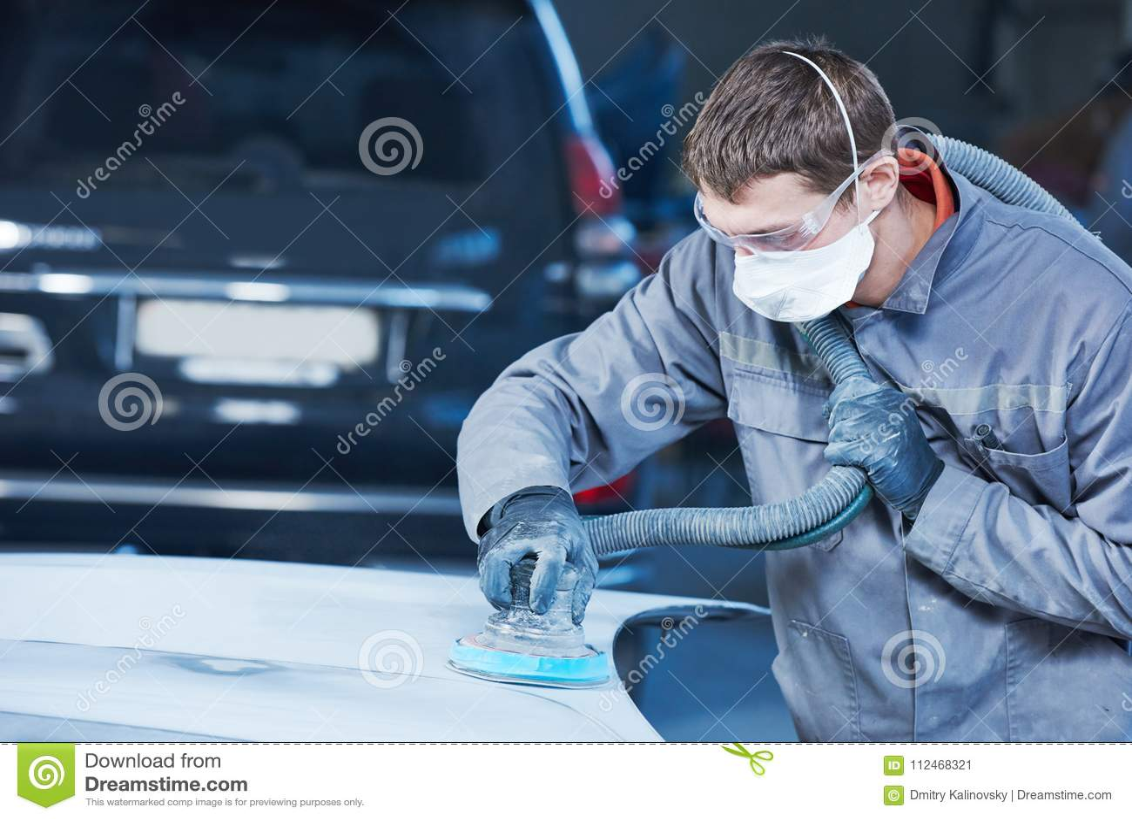 Auto repairman mleje autobody czapeczkę