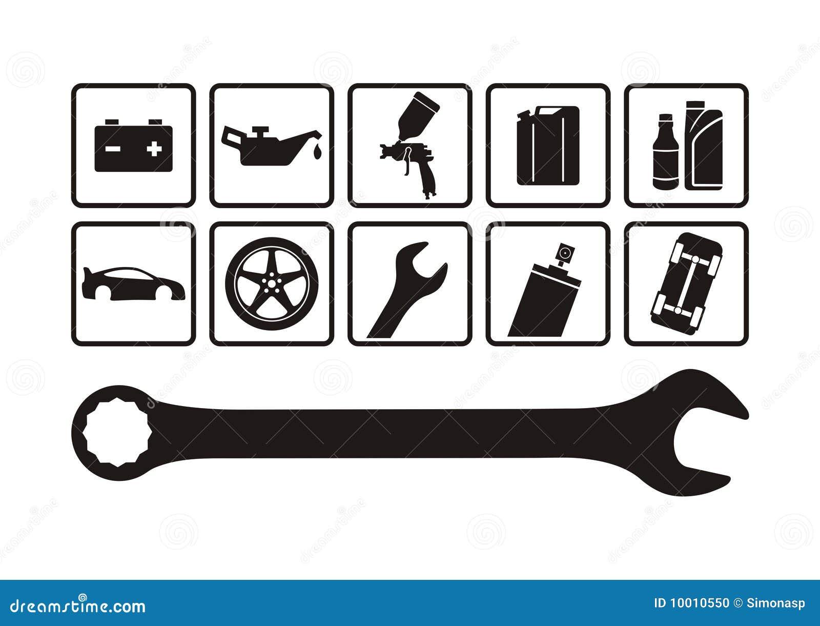 Auto reparatie stock foto afbeelding 10010550 for Auto interieur reparatie