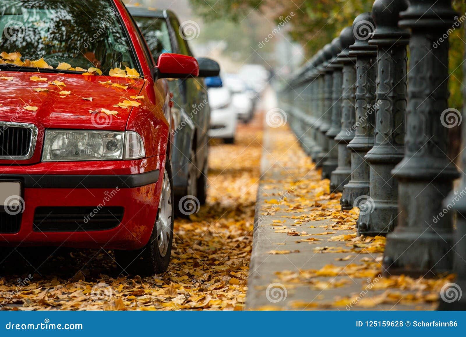Auto s die op de straat worden geparkeerd