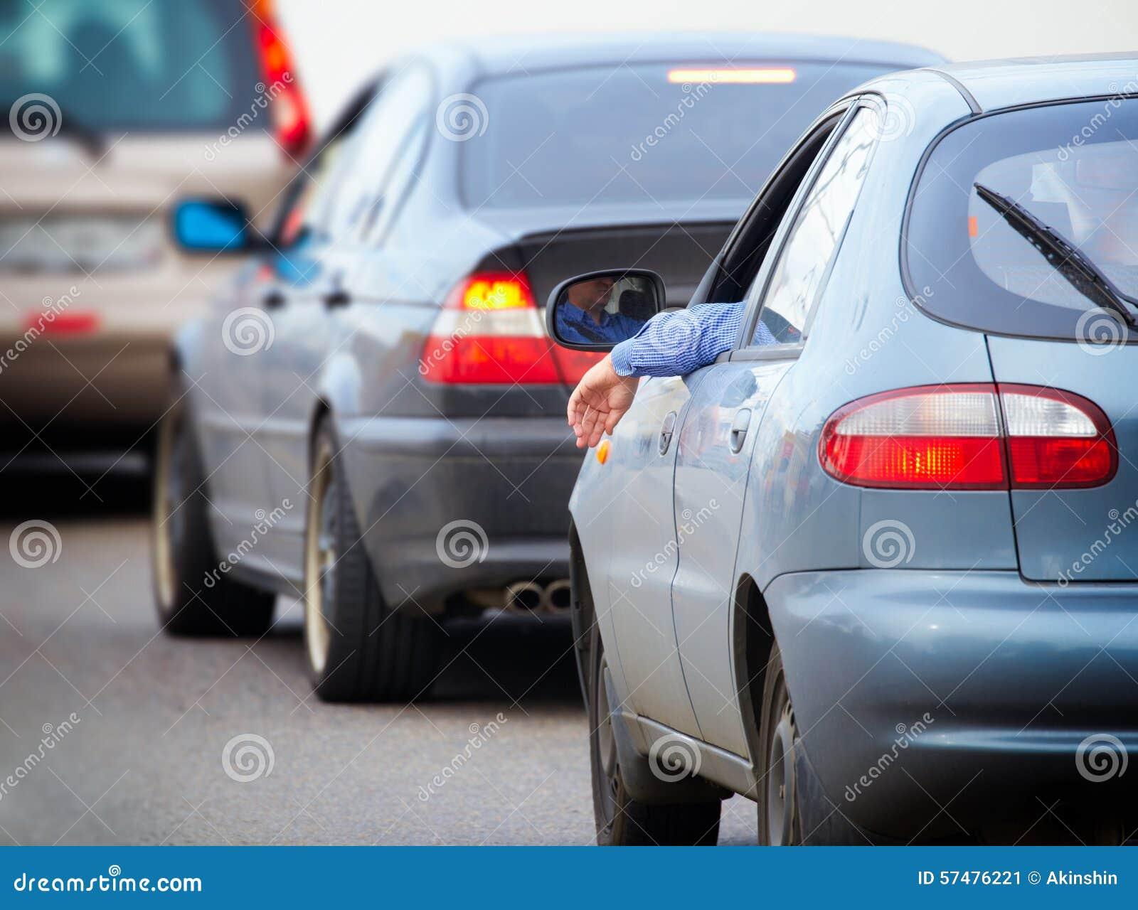 Auto s op de weg