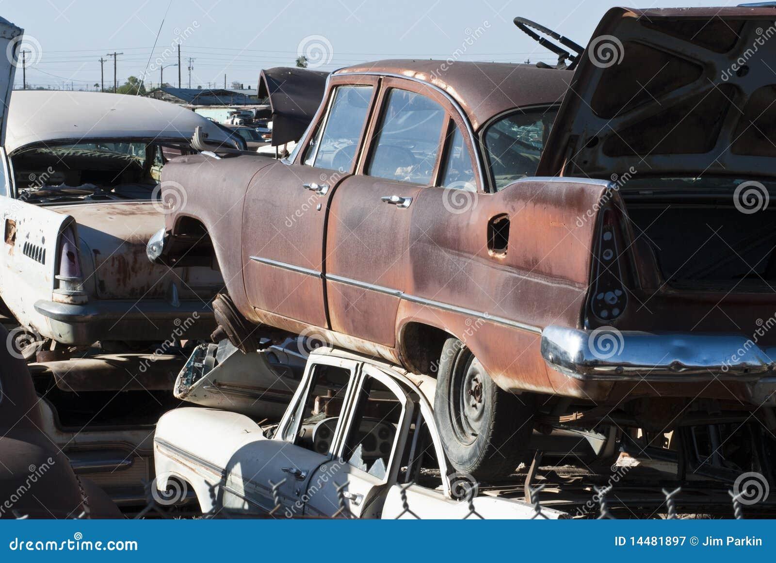 Auto Salvage Yard stock image. Image of salvage, scavenge - 14481897