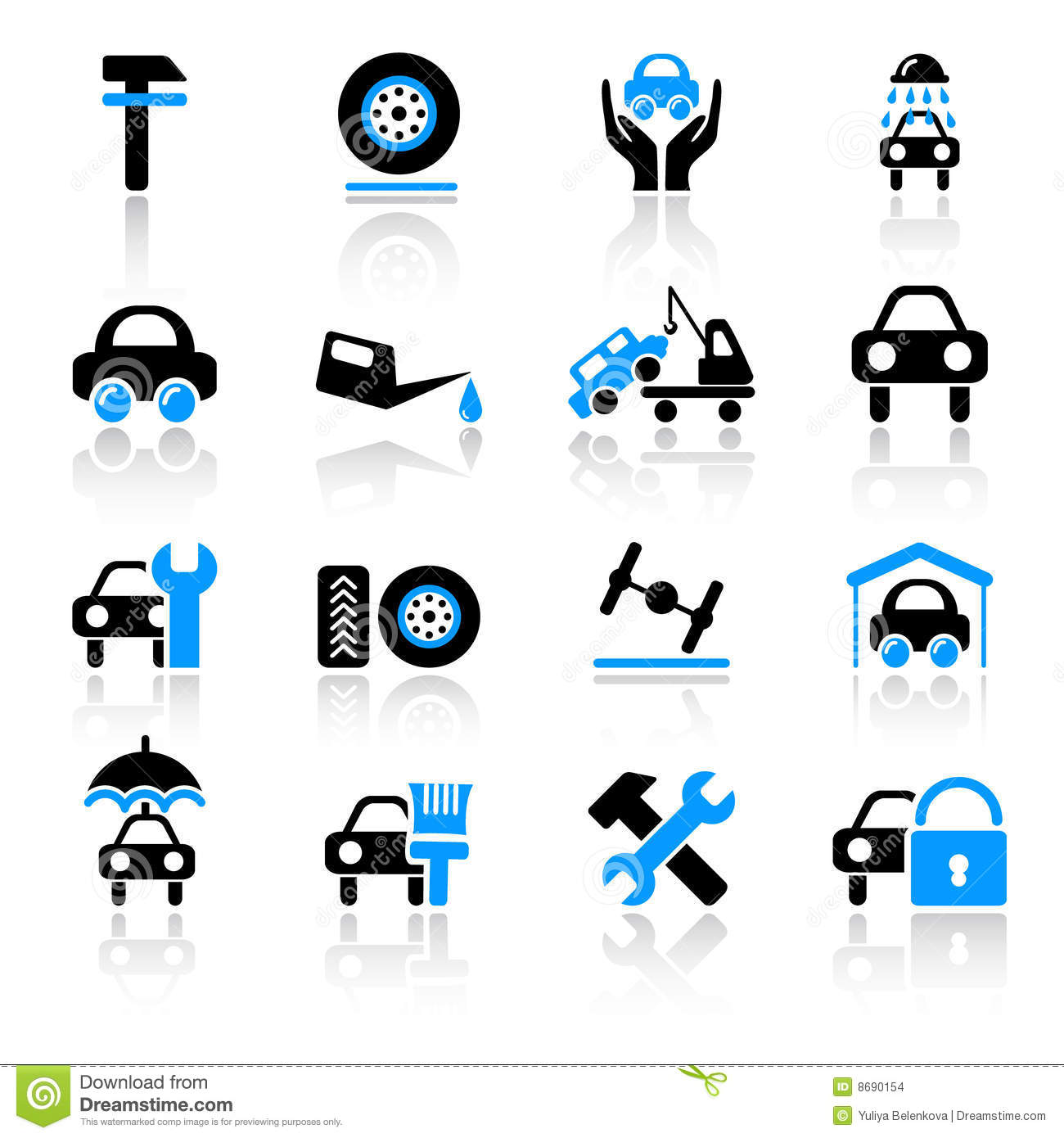 Auto Service Icons Stock Images - Image: 8690154