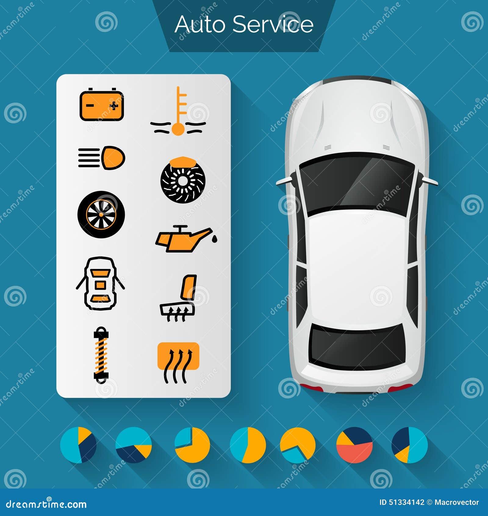 auto-service-infographics-set-car-repair
