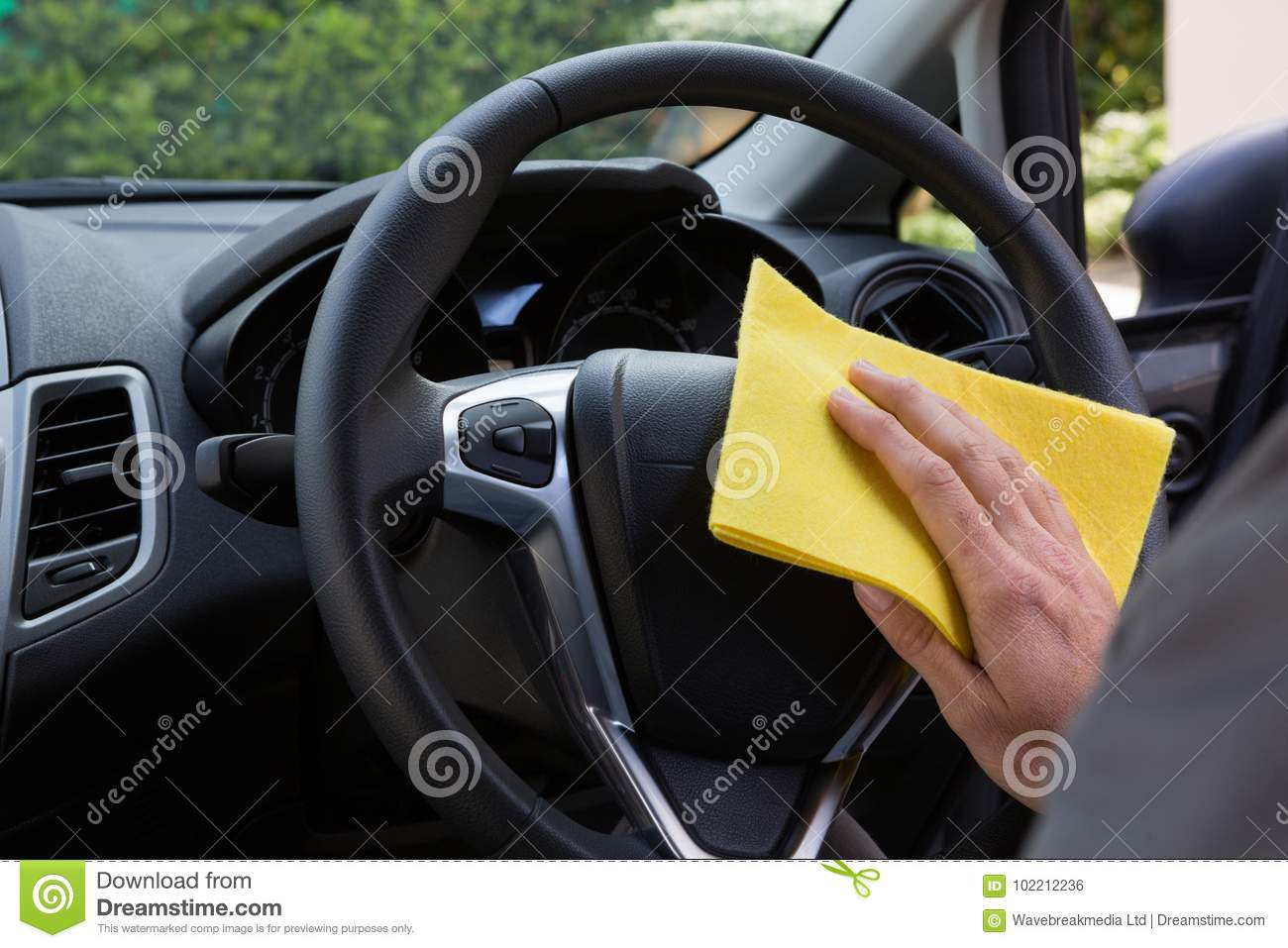 Auto Service Staff Cleaning Car Interior Stock Photo Image Of Wash