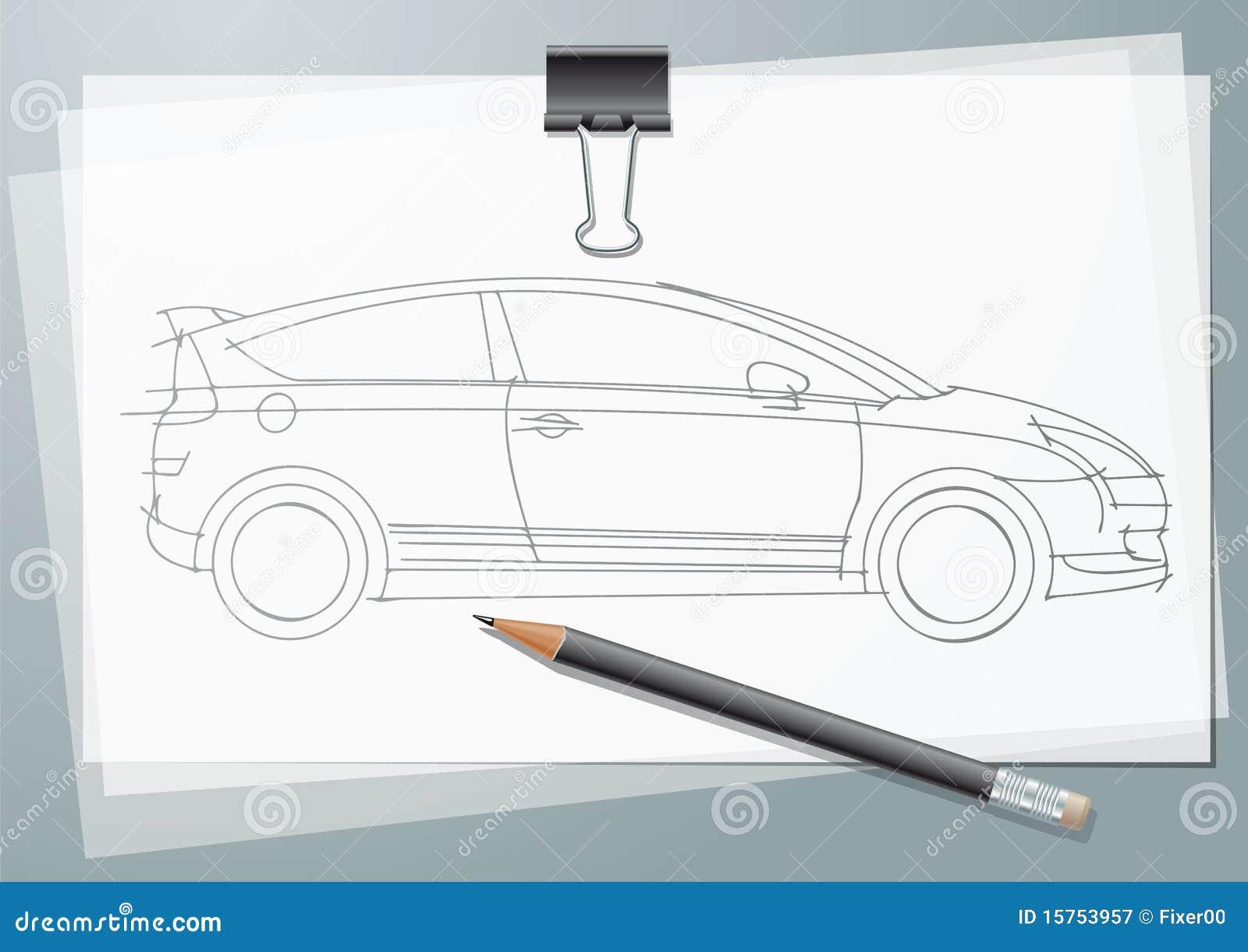 Nett Wie Man Auto Skizziert Galerie - Schaltplan Serie Circuit ...