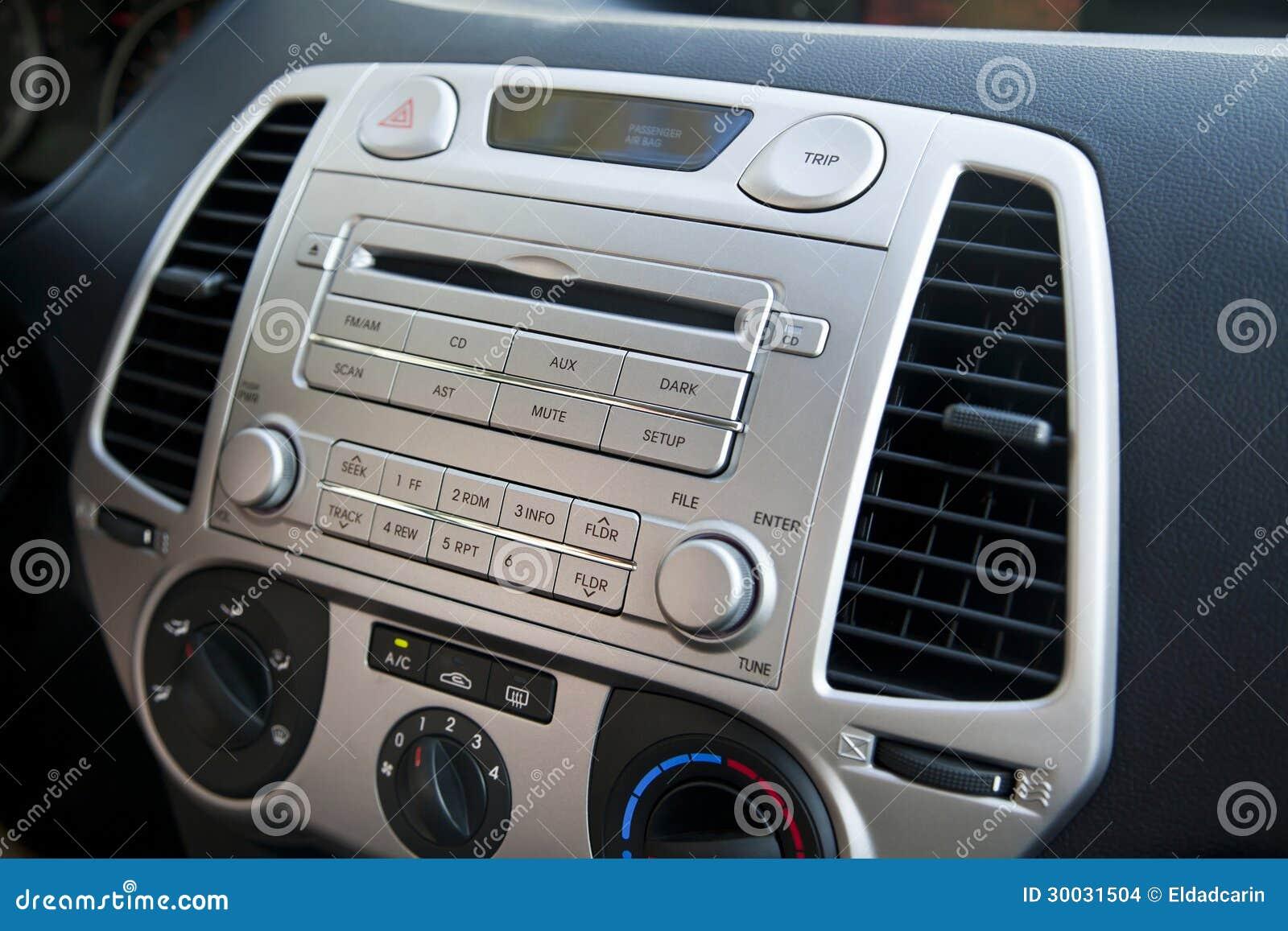 Auto-Stereolithographie-u. Klimaanlagen-Kontrollen Stockfoto - Bild ...