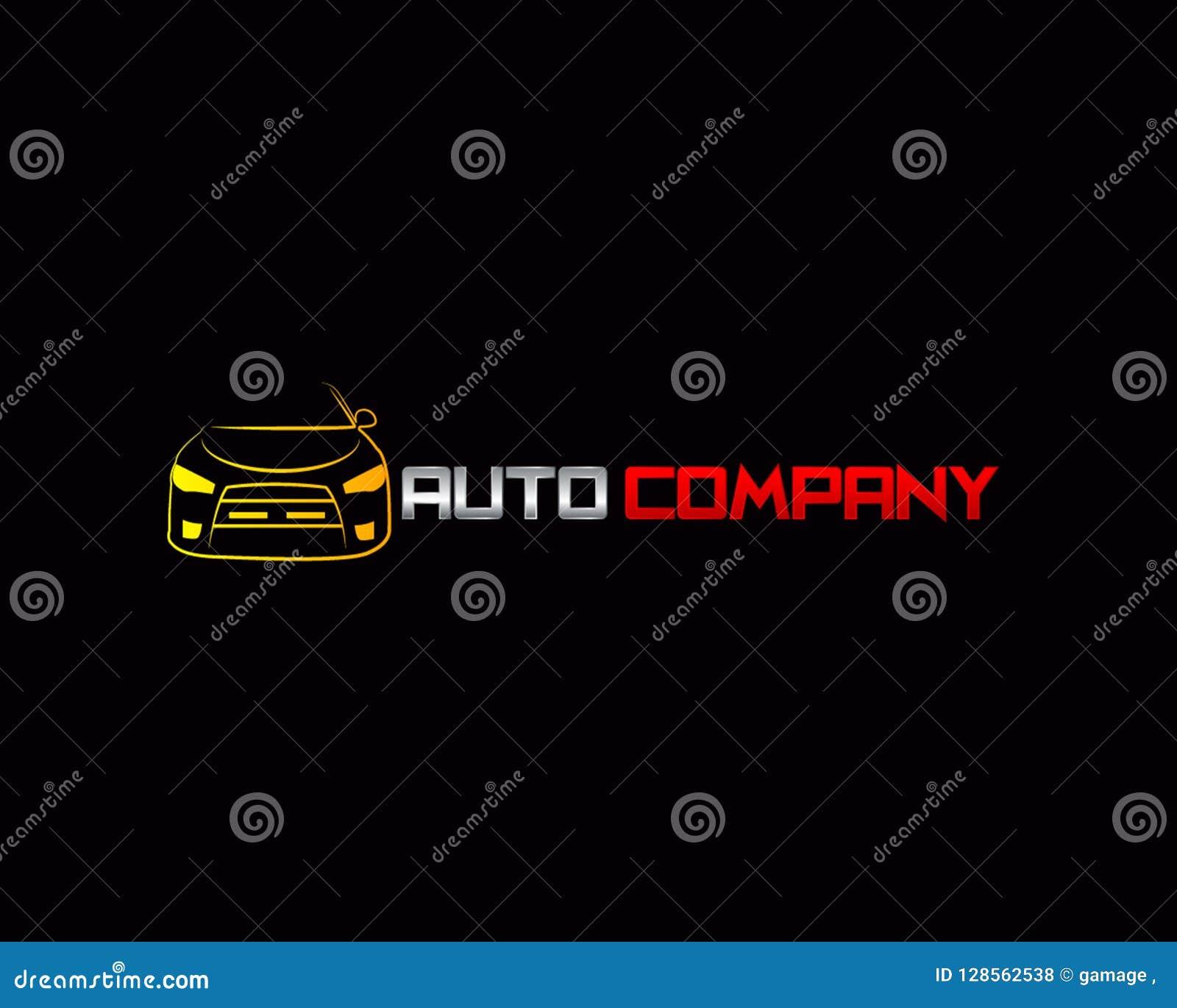 Modern Auto Company Logo Design Vector And Illustration Stock