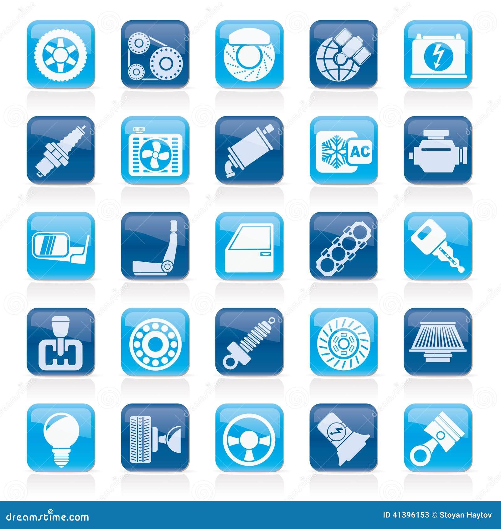 auto teil und service ikonen vektor abbildung bild 41396153. Black Bedroom Furniture Sets. Home Design Ideas