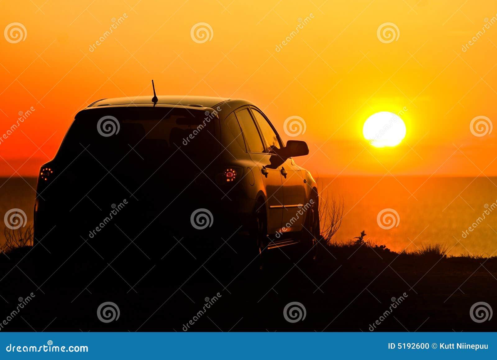 Auto und Einstellungssonne