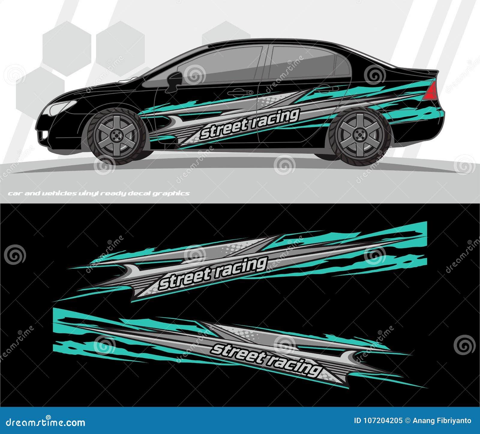 Auto Und Fahrzeuge Wickeln Abziehbild Grafik ...