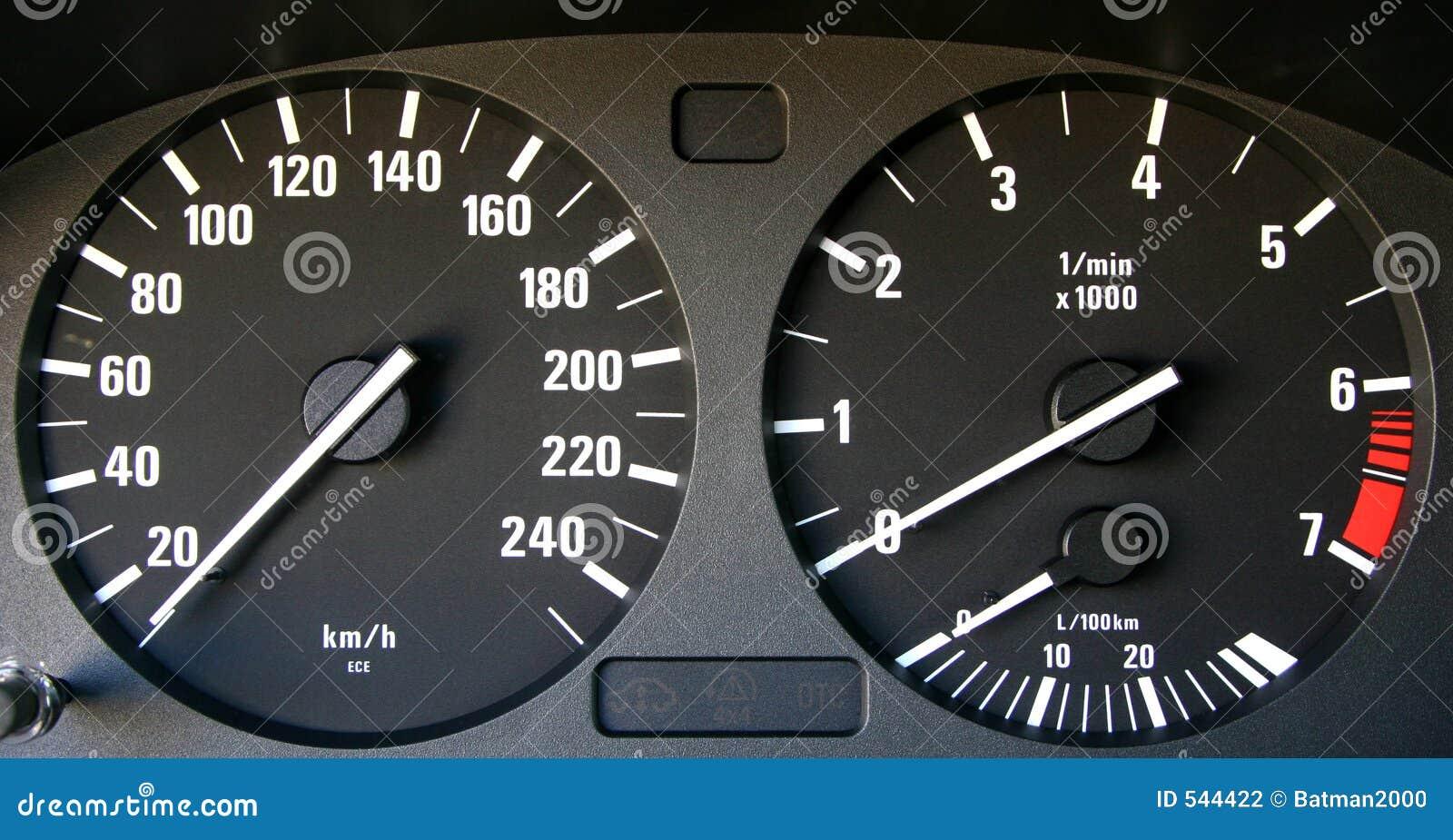 Auto velocímetro e tachymeter