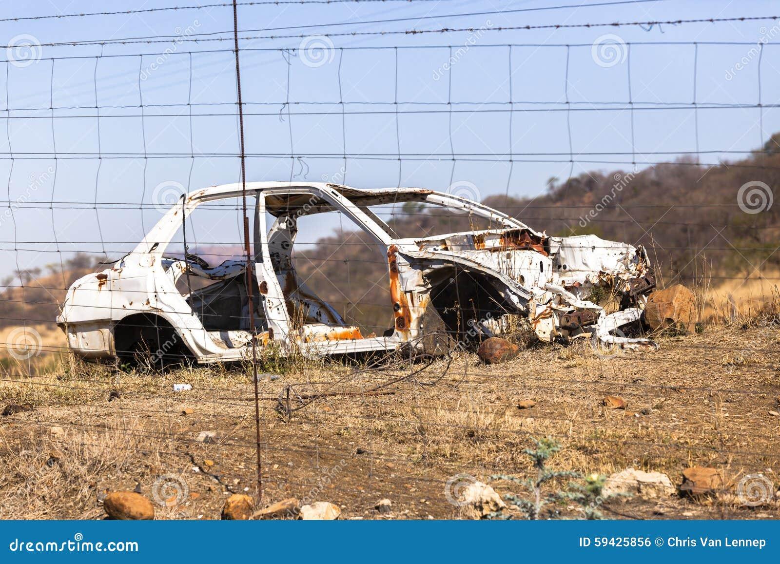 Auto Verpletterd Wrak