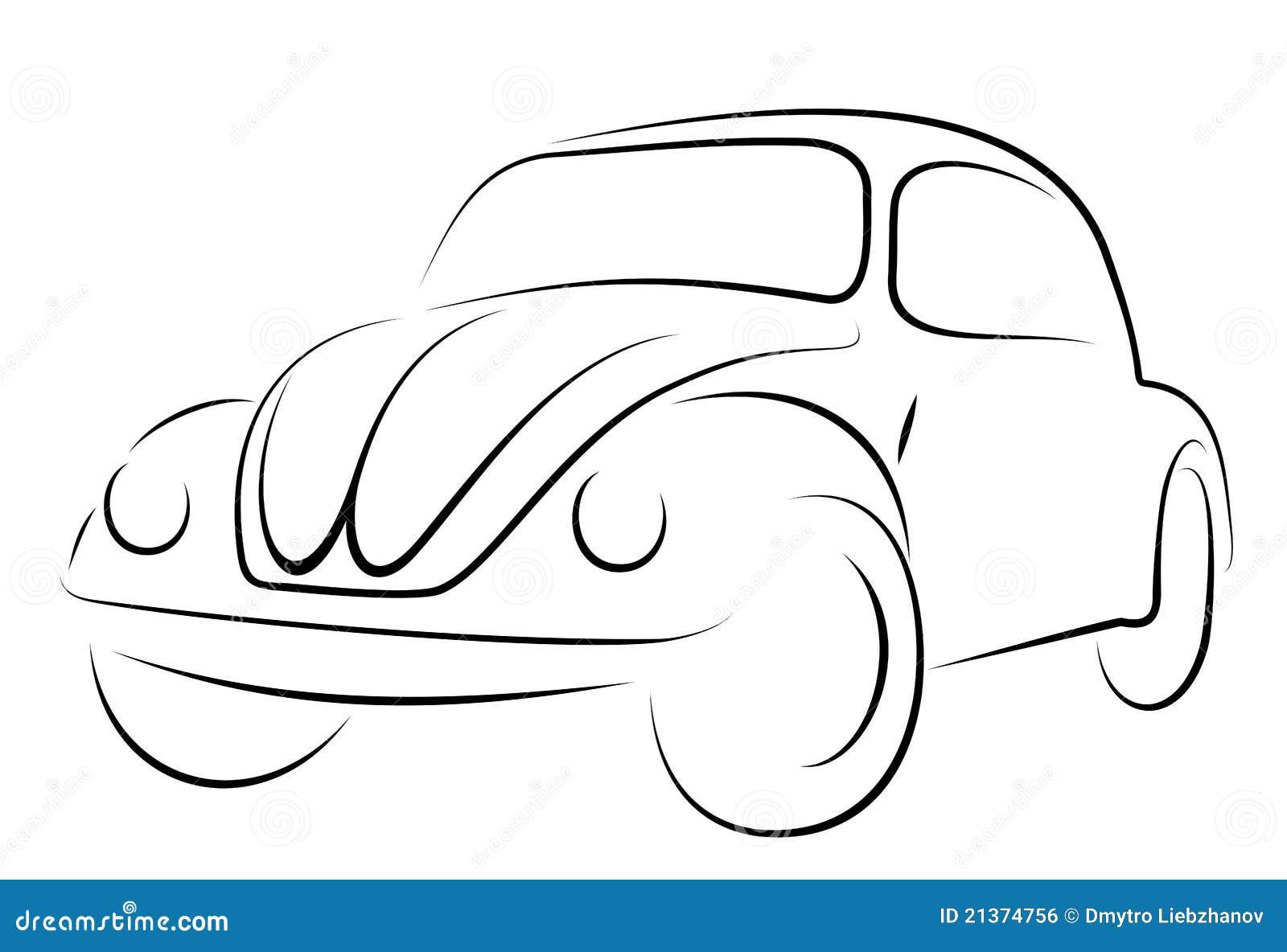 auto-volkswagen-k u00e4fer vektor abbildung  illustration von ikone