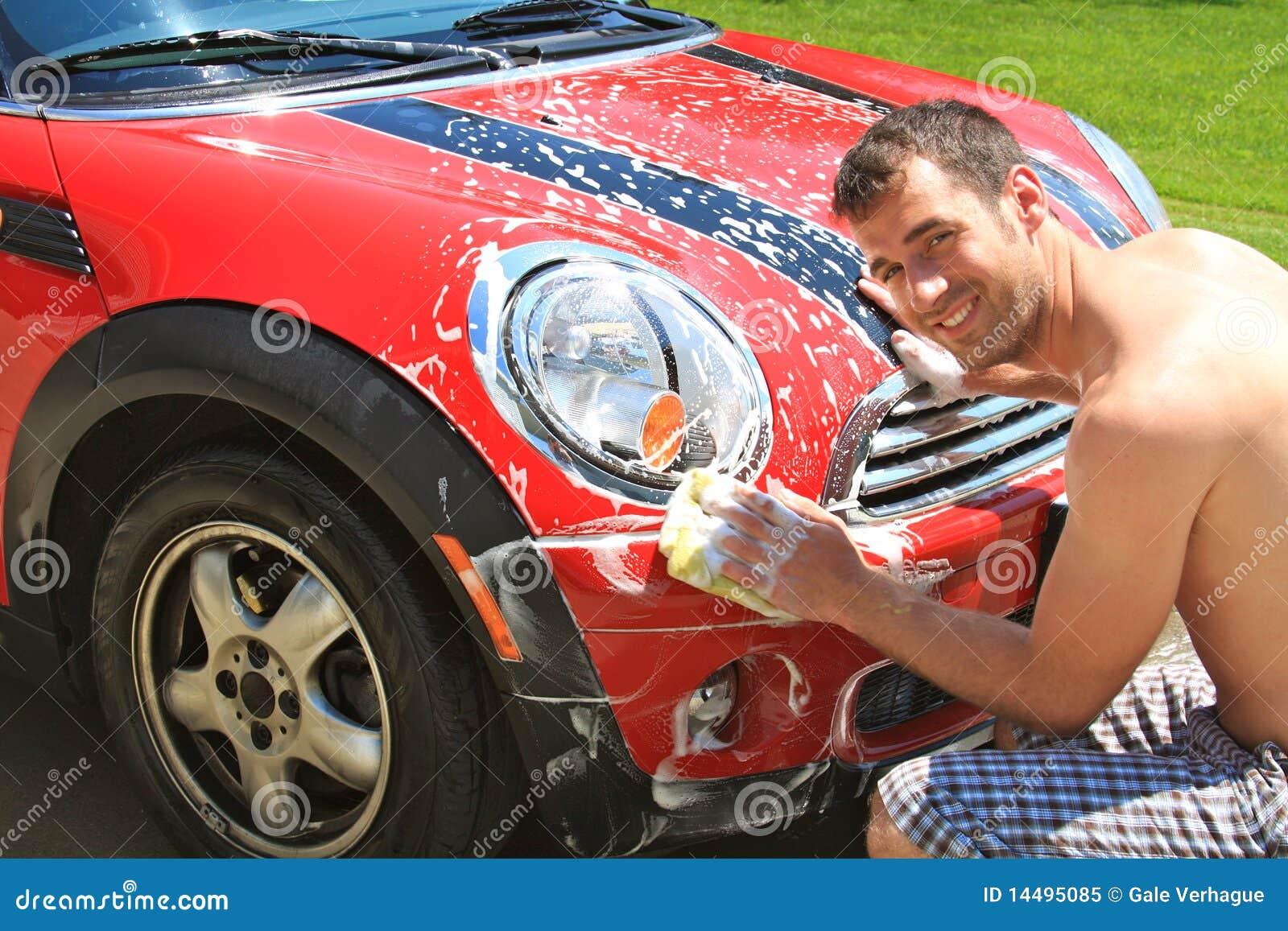 Auto Wäsche Lizenzfreies Stockfoto Bild