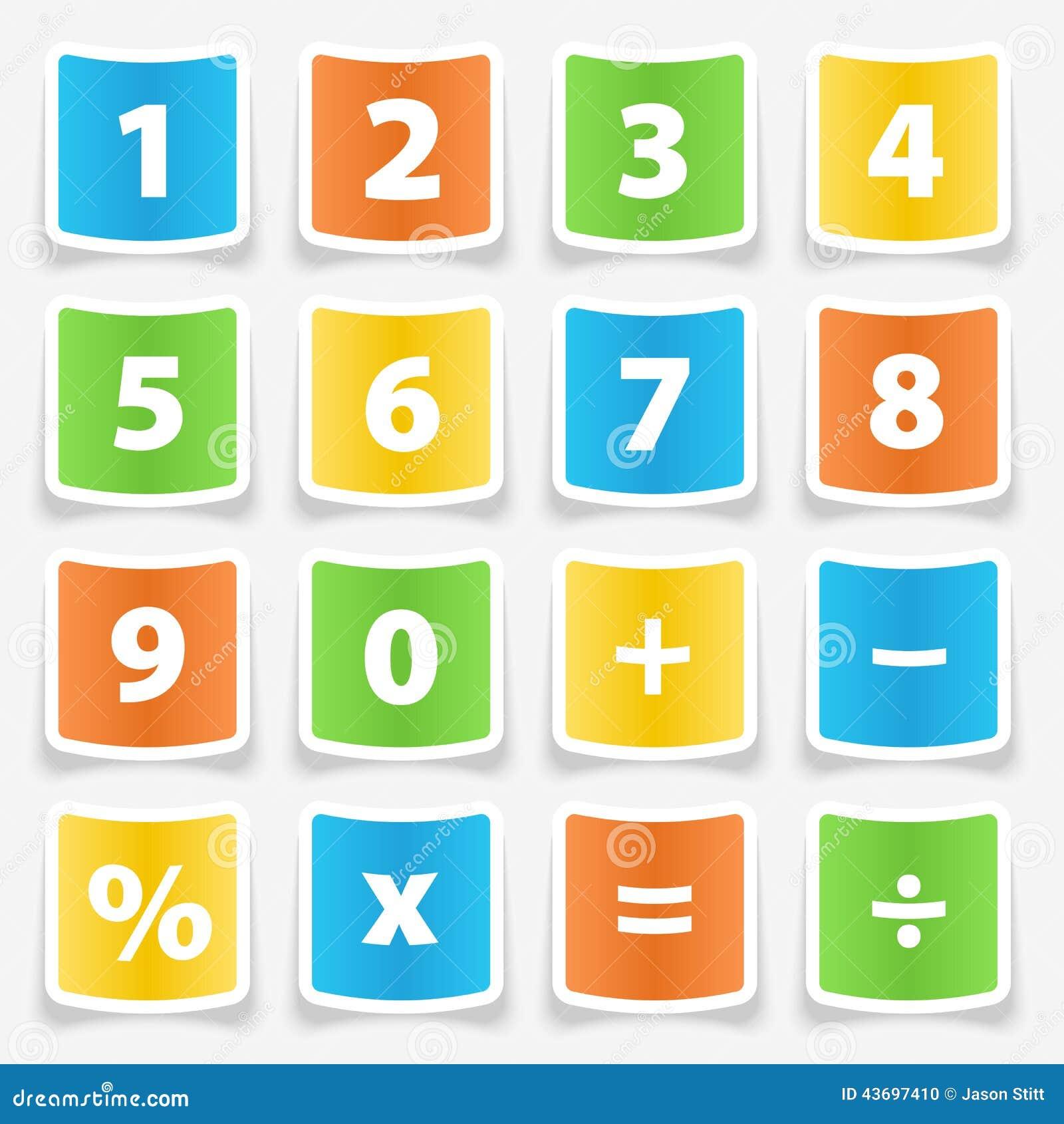 Autoadesivi del bottone del calcolatore