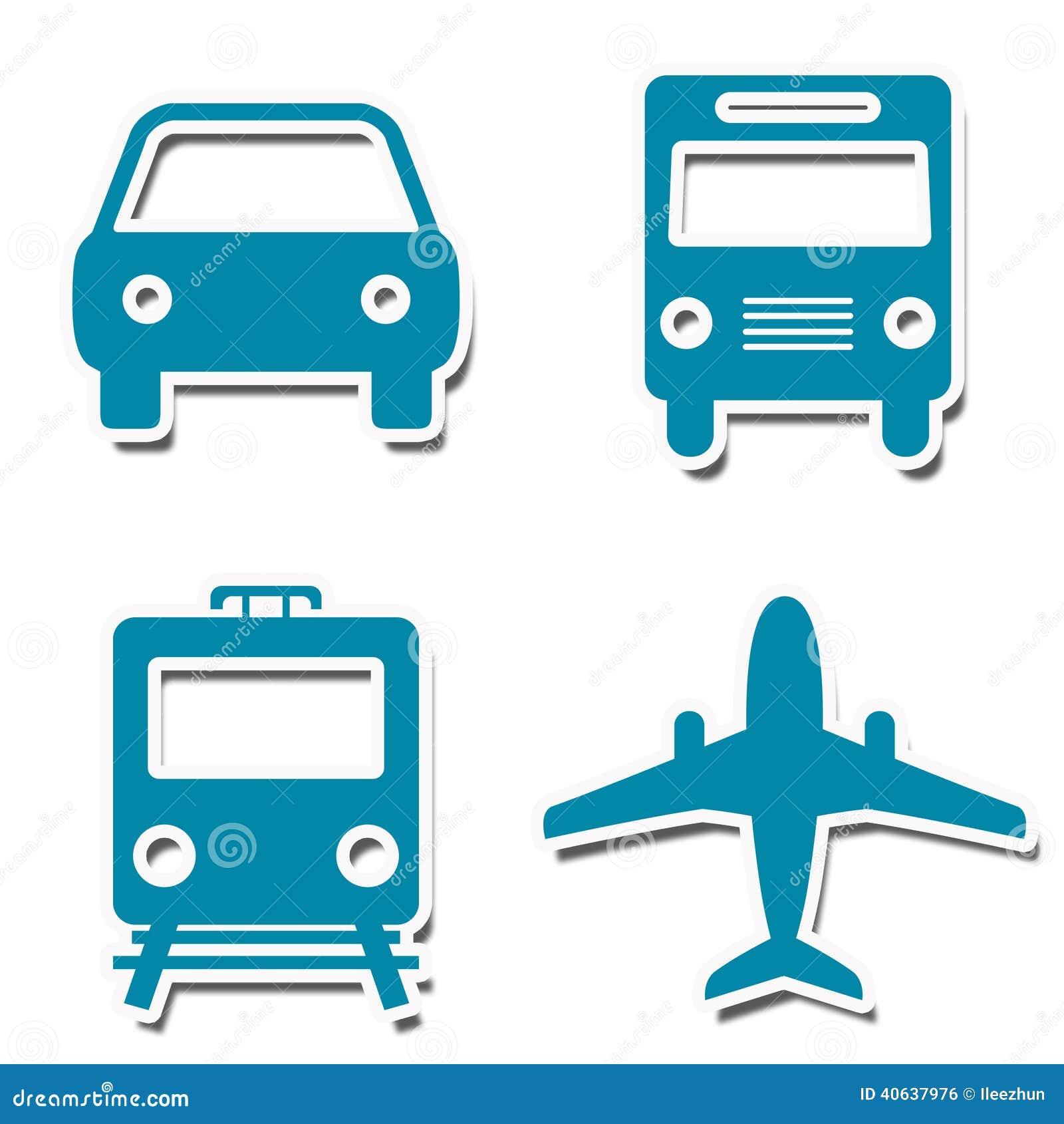 Autoadesivi delle icone di viaggio
