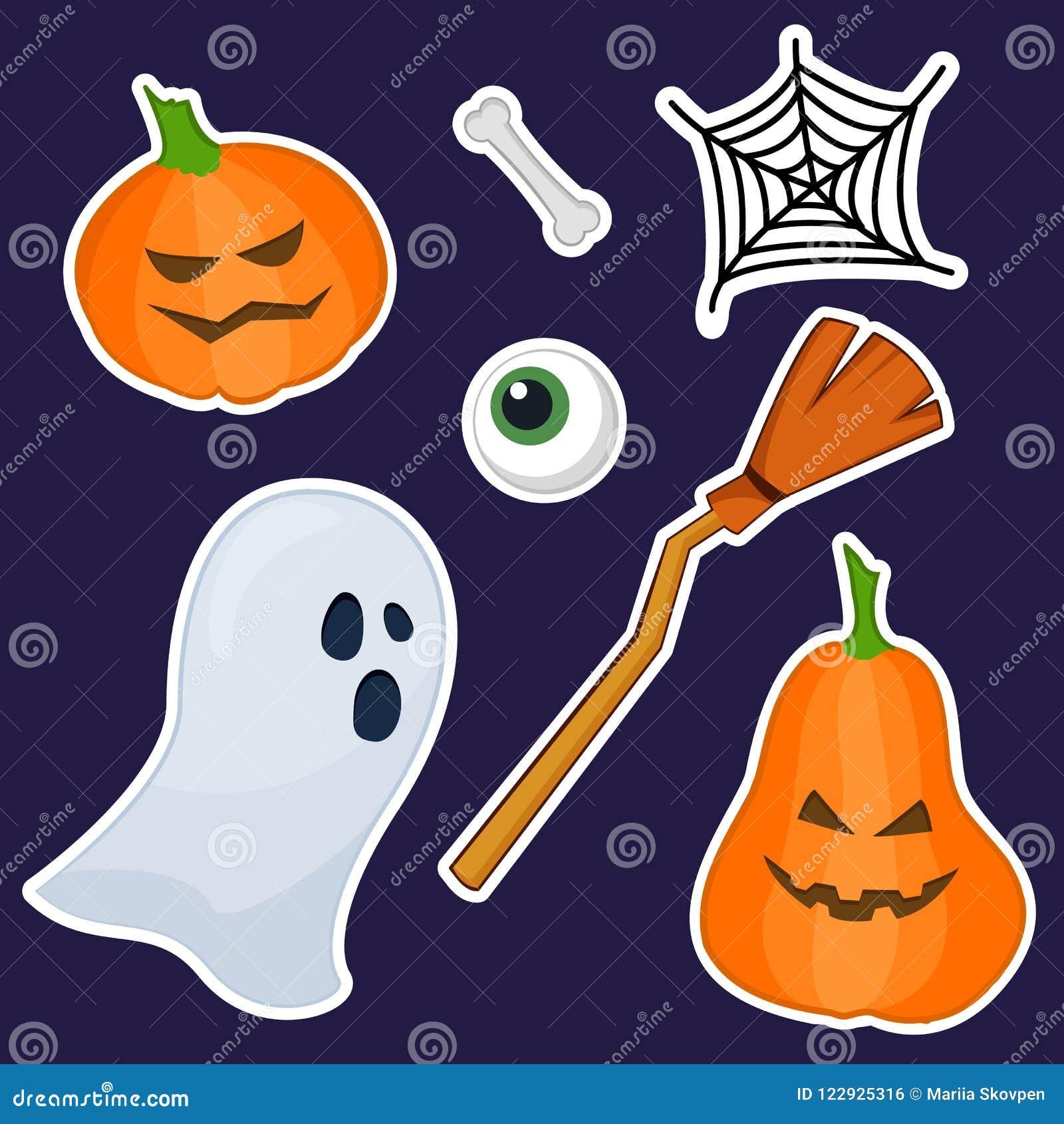 Autoadesivi di Halloween fatti della pittura della mano
