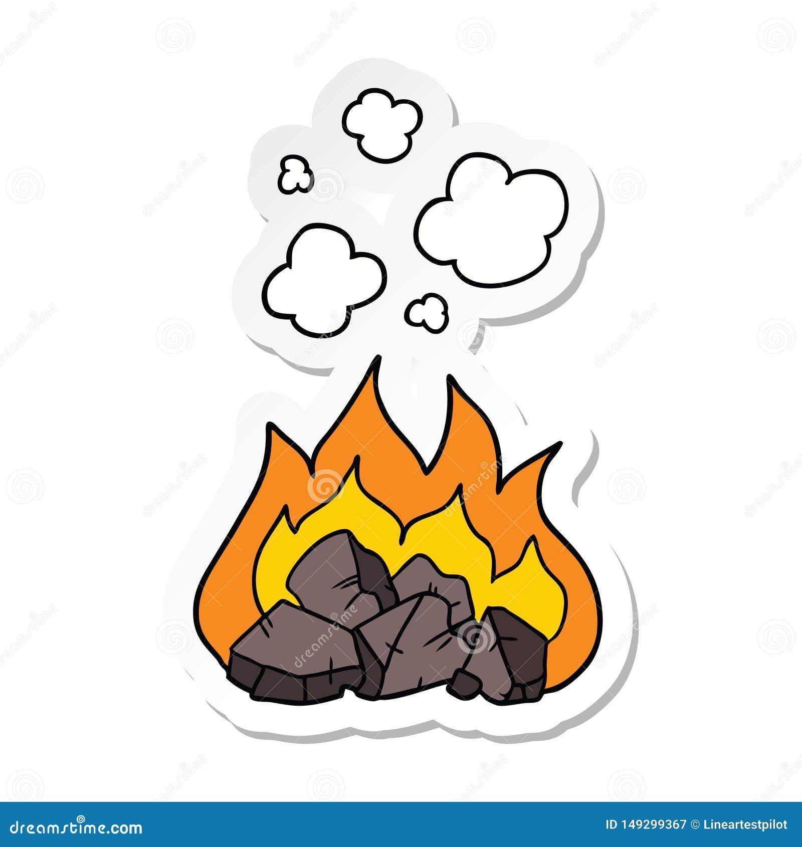 Autoadesivo dei carboni caldi di un fumetto