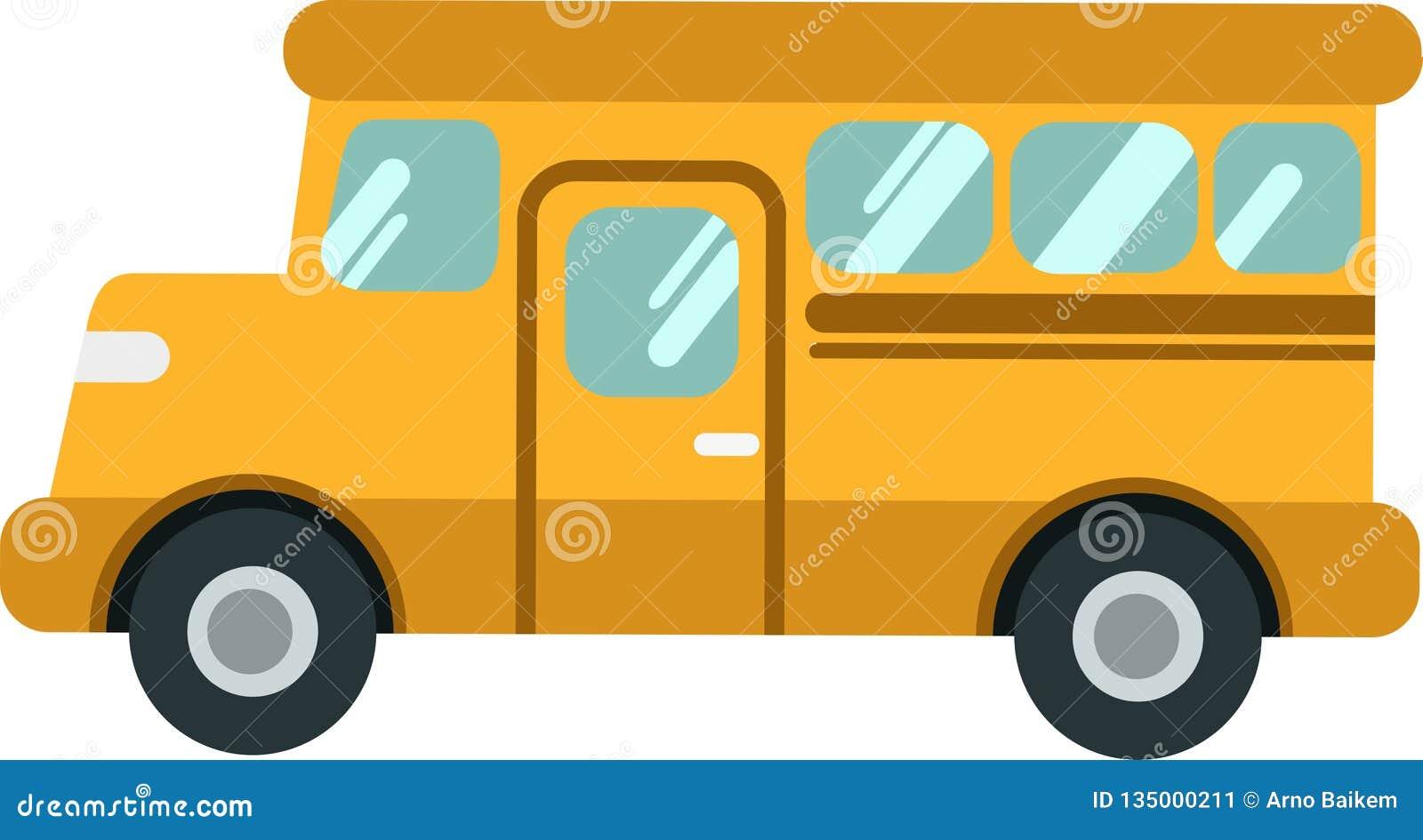 Autobús escolar o shuttleon del vector el Blackground blanco